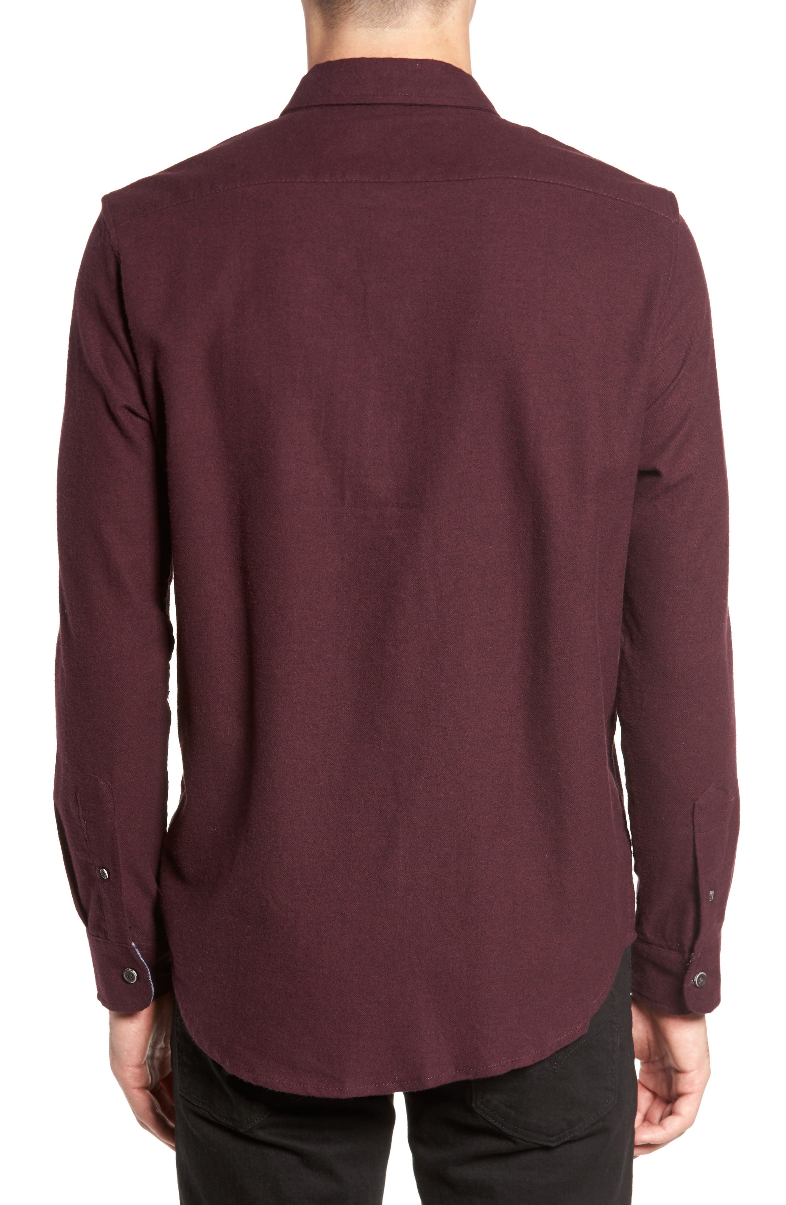 Heather Flannel Shirt,                             Alternate thumbnail 4, color,