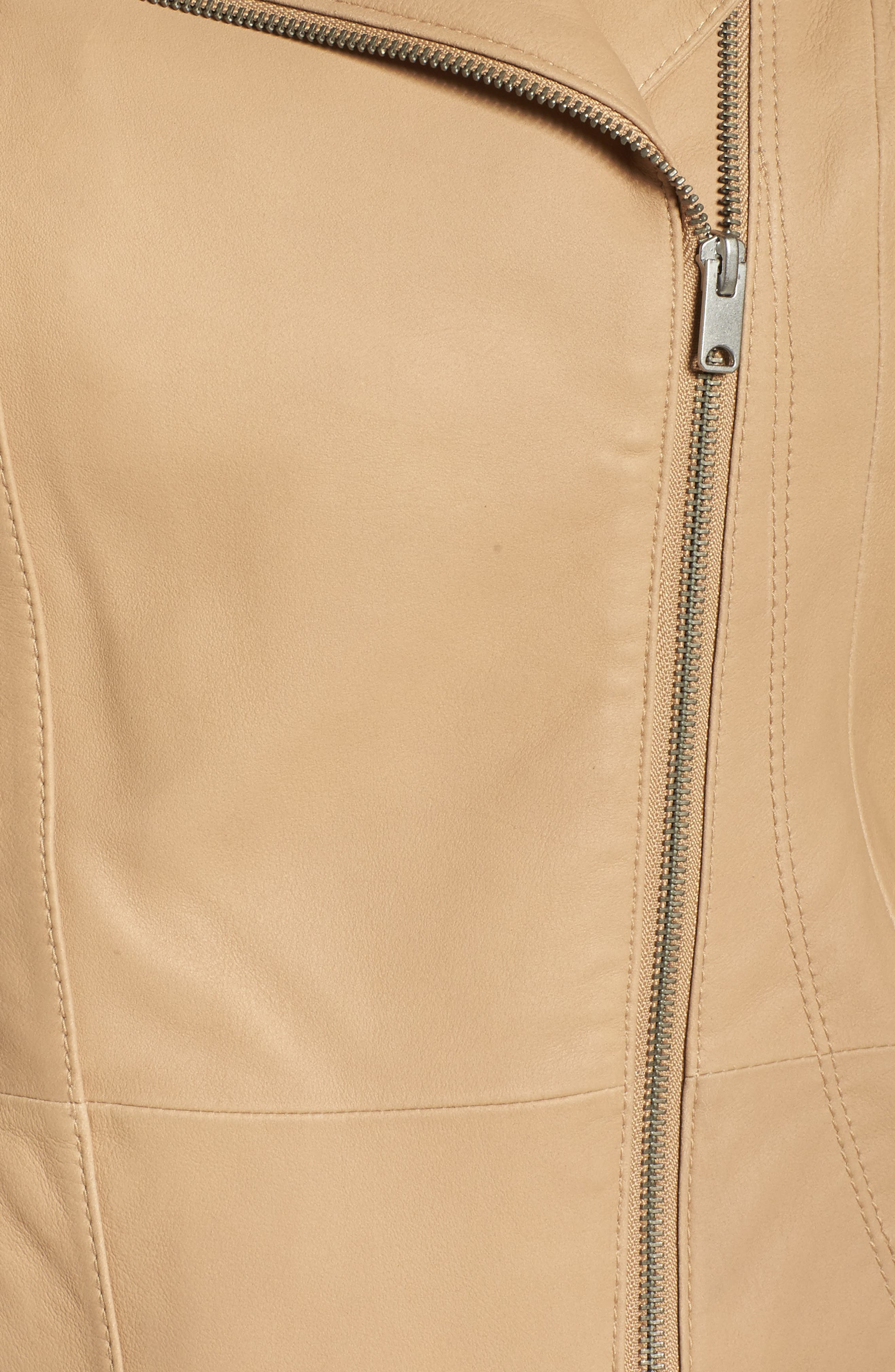 Felicia Leather Moto Jacket,                             Alternate thumbnail 5, color,