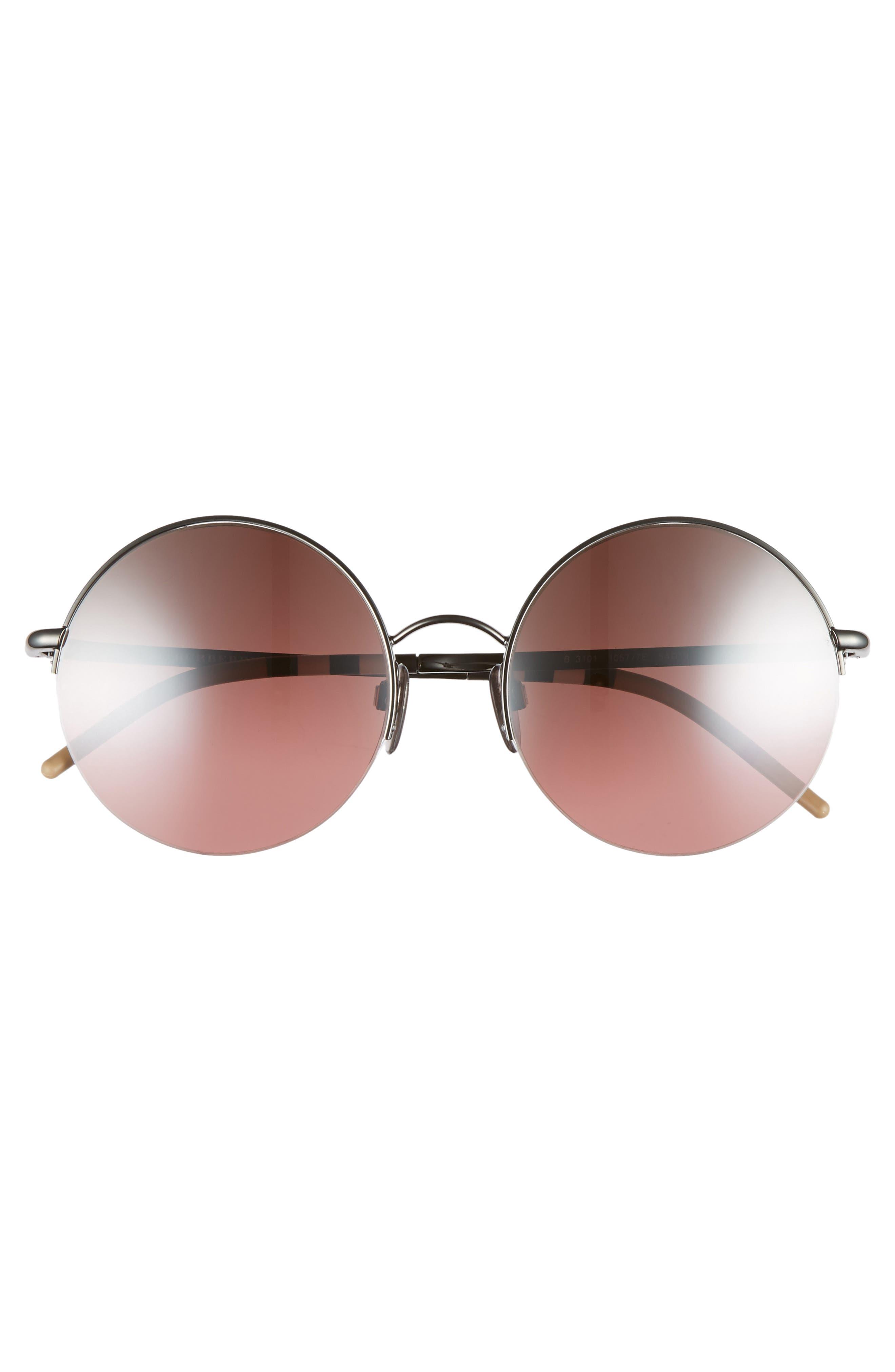 54mm Round Sunglasses,                             Alternate thumbnail 4, color,                             001