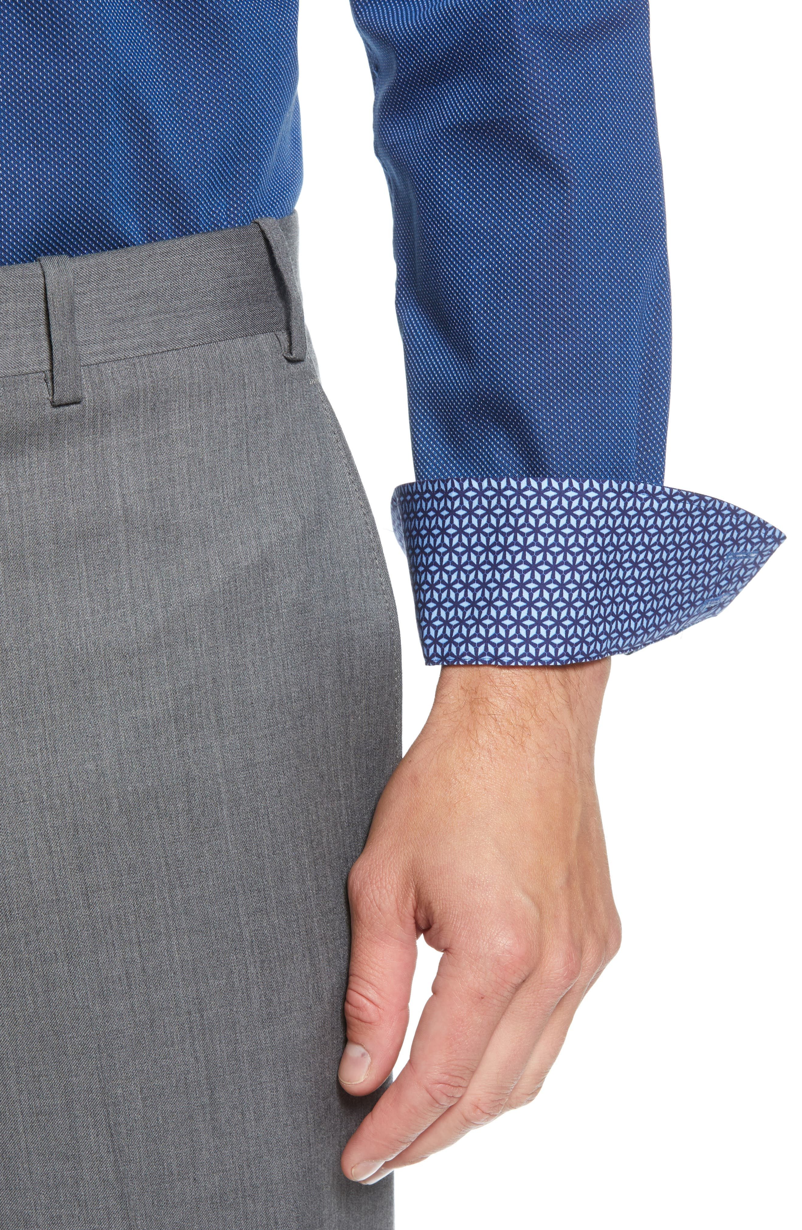 TED BAKER LONDON,                             Wikks Slim Fit Print Dress Shirt,                             Alternate thumbnail 2, color,                             410