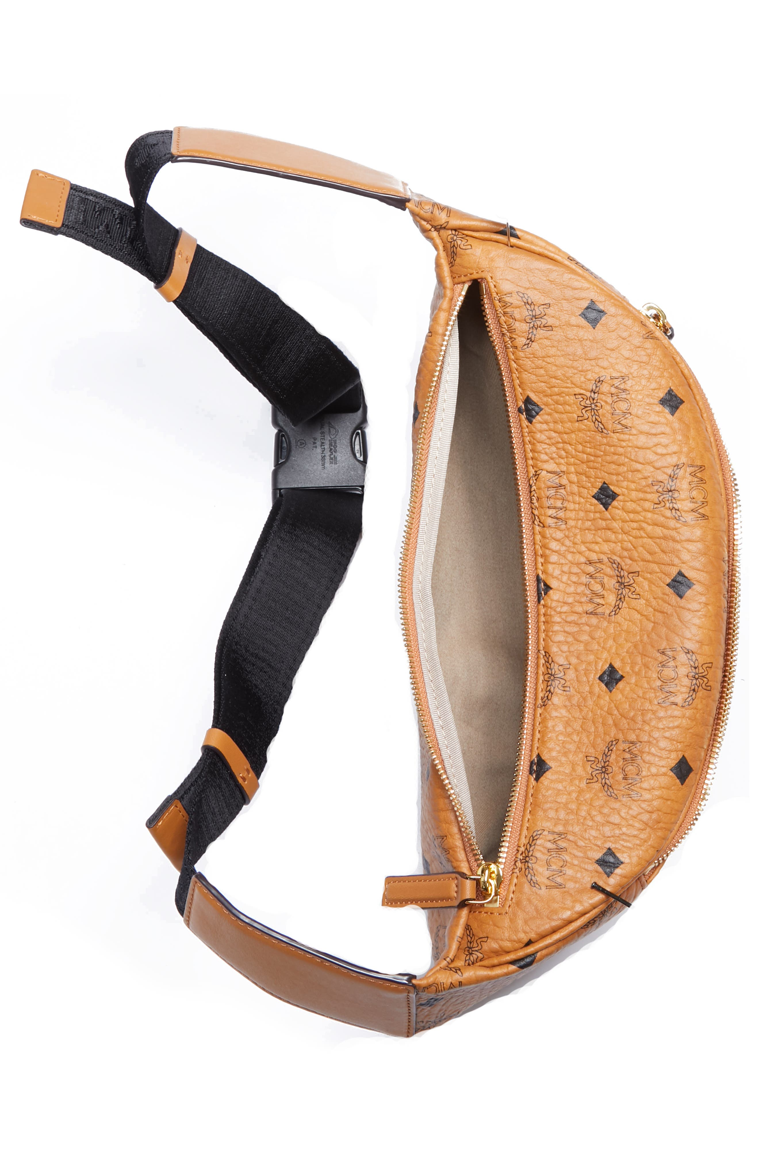Medium Stark Belt Bag,                             Alternate thumbnail 3, color,                             COGNAC CO