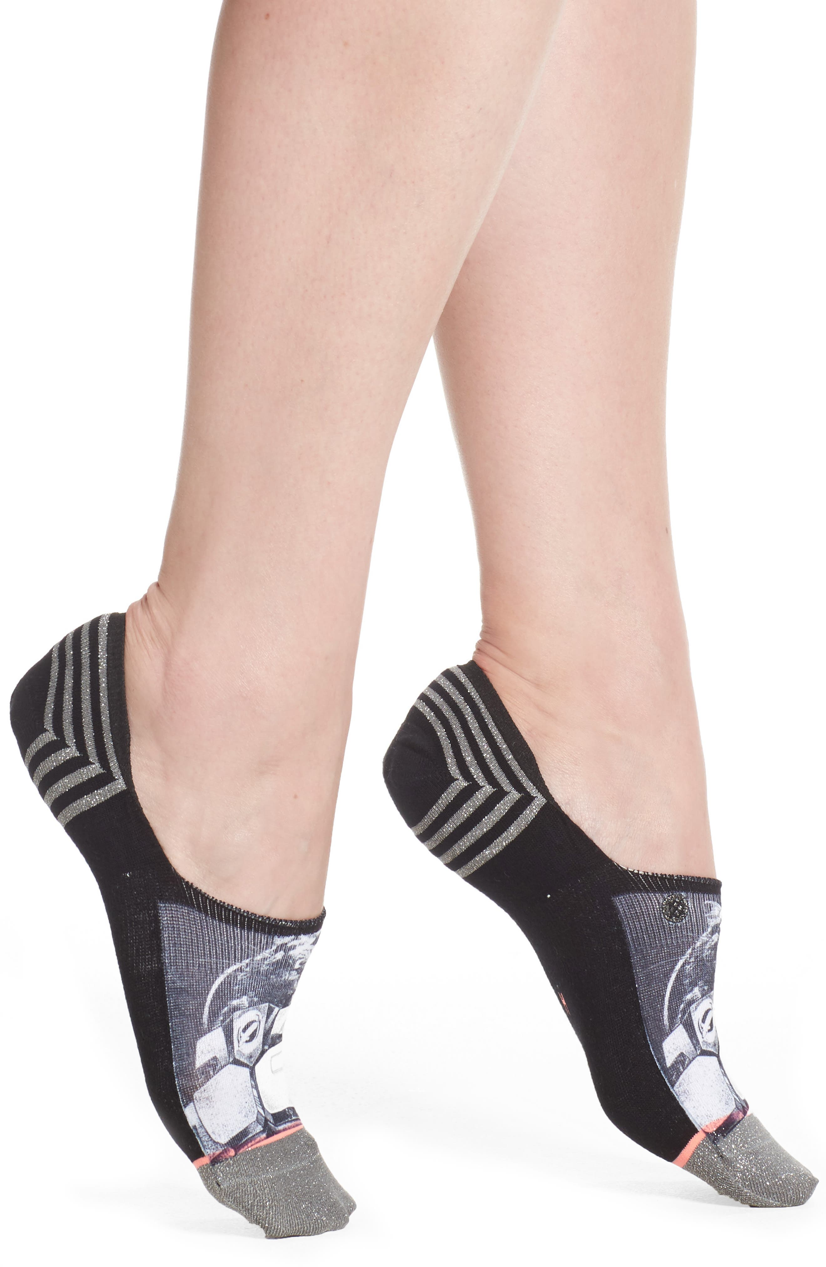 Moonwalker Super Invisible No-Show Socks,                             Main thumbnail 1, color,                             001