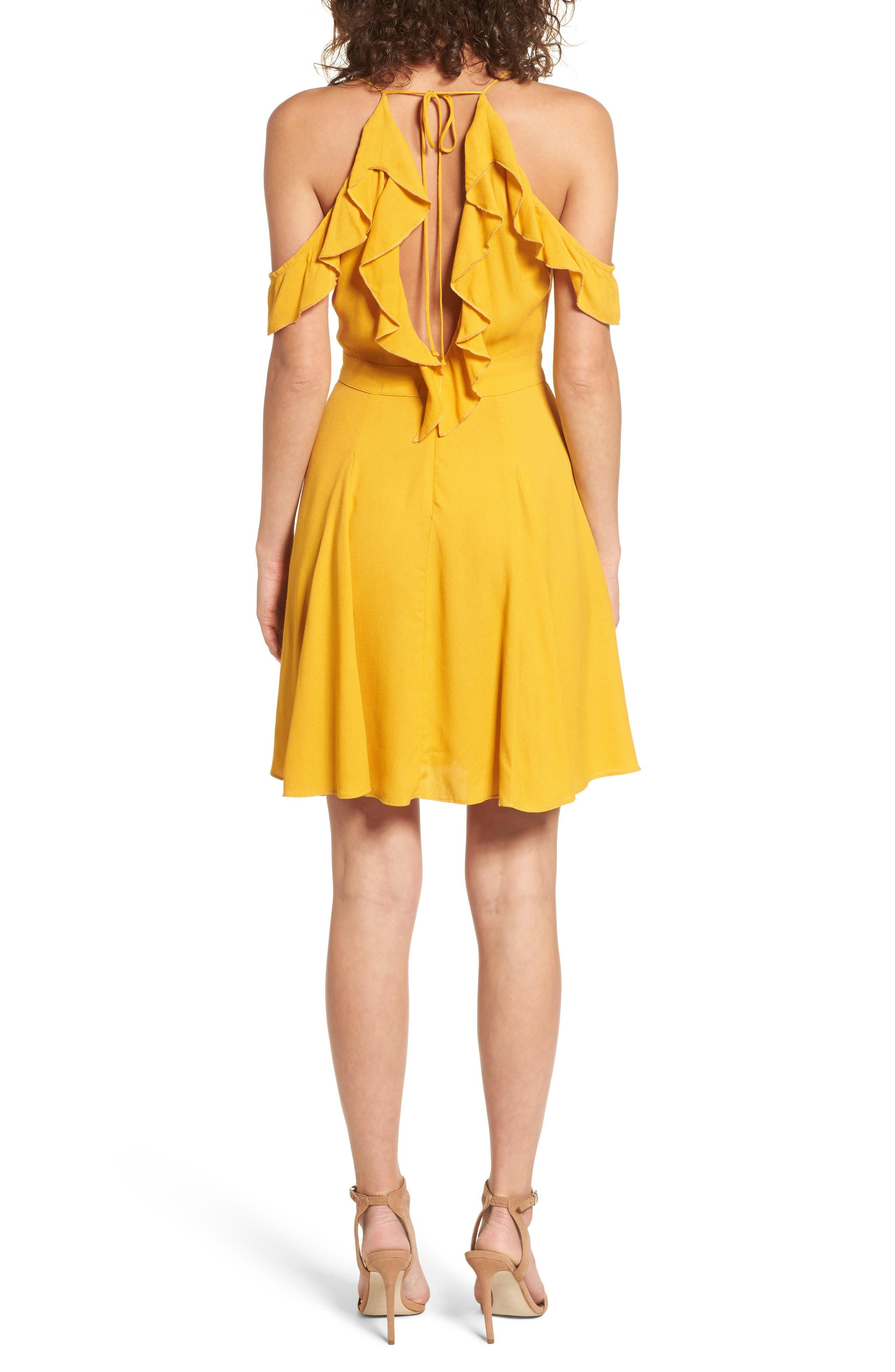 Enzo Cold Shoulder Fit & Flare Dress,                             Alternate thumbnail 2, color,