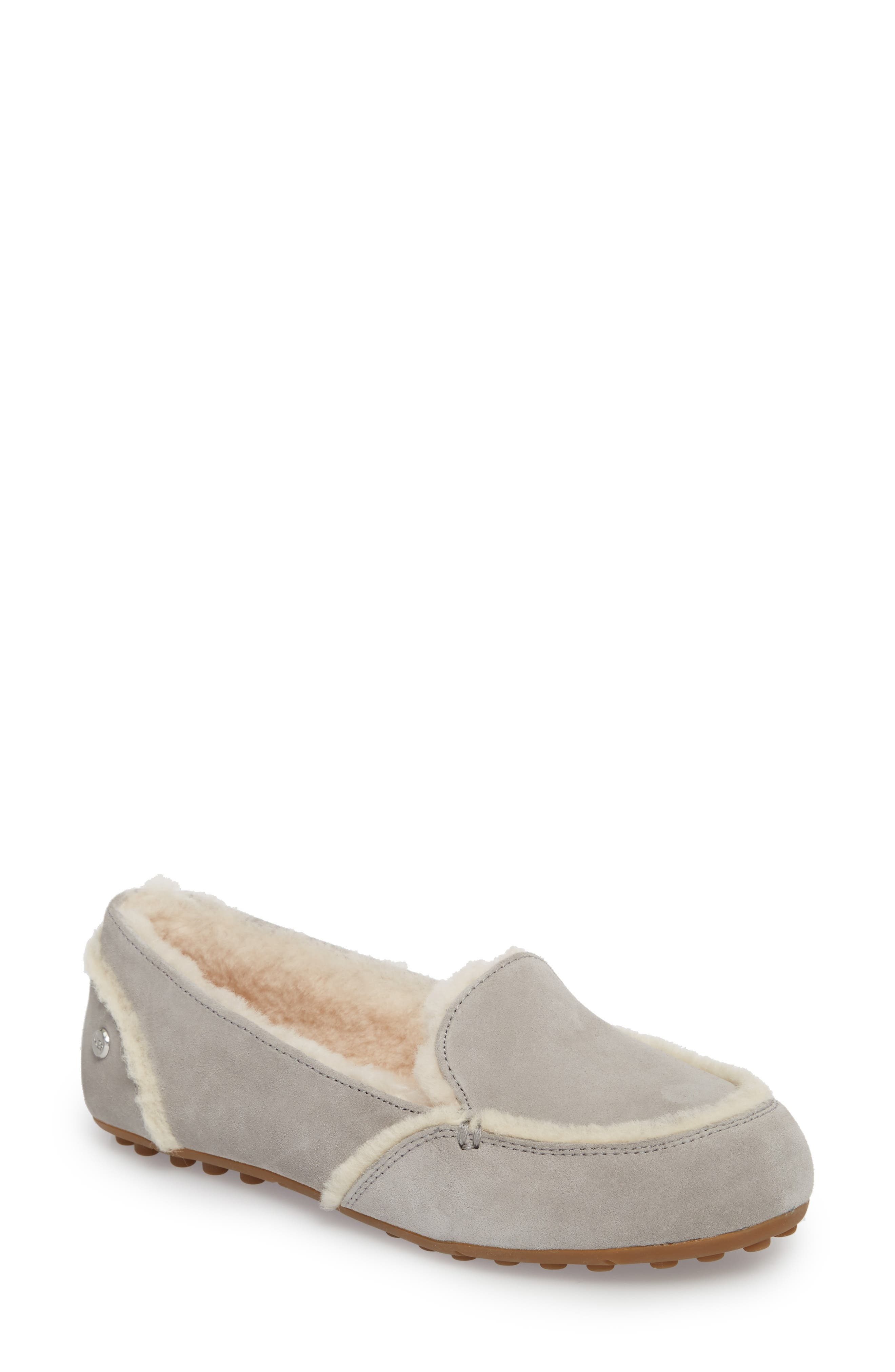 Hailey Slipper,                             Main thumbnail 1, color,                             GREY SUEDE