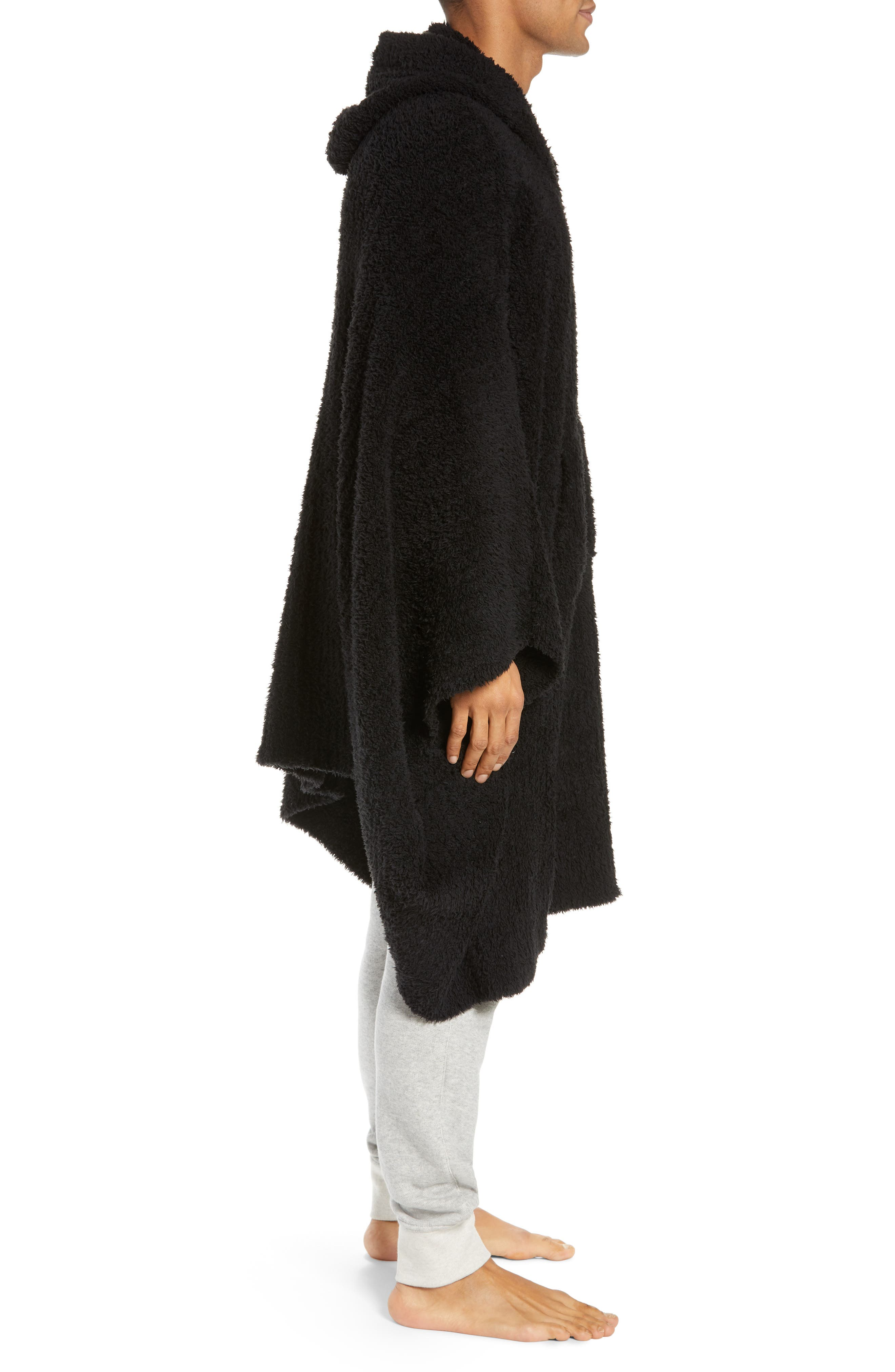 BAREFOOT DREAMS<SUP>®</SUP>,                             Barefoot Dreams Cozy Chic Poncho Robe,                             Alternate thumbnail 3, color,                             001