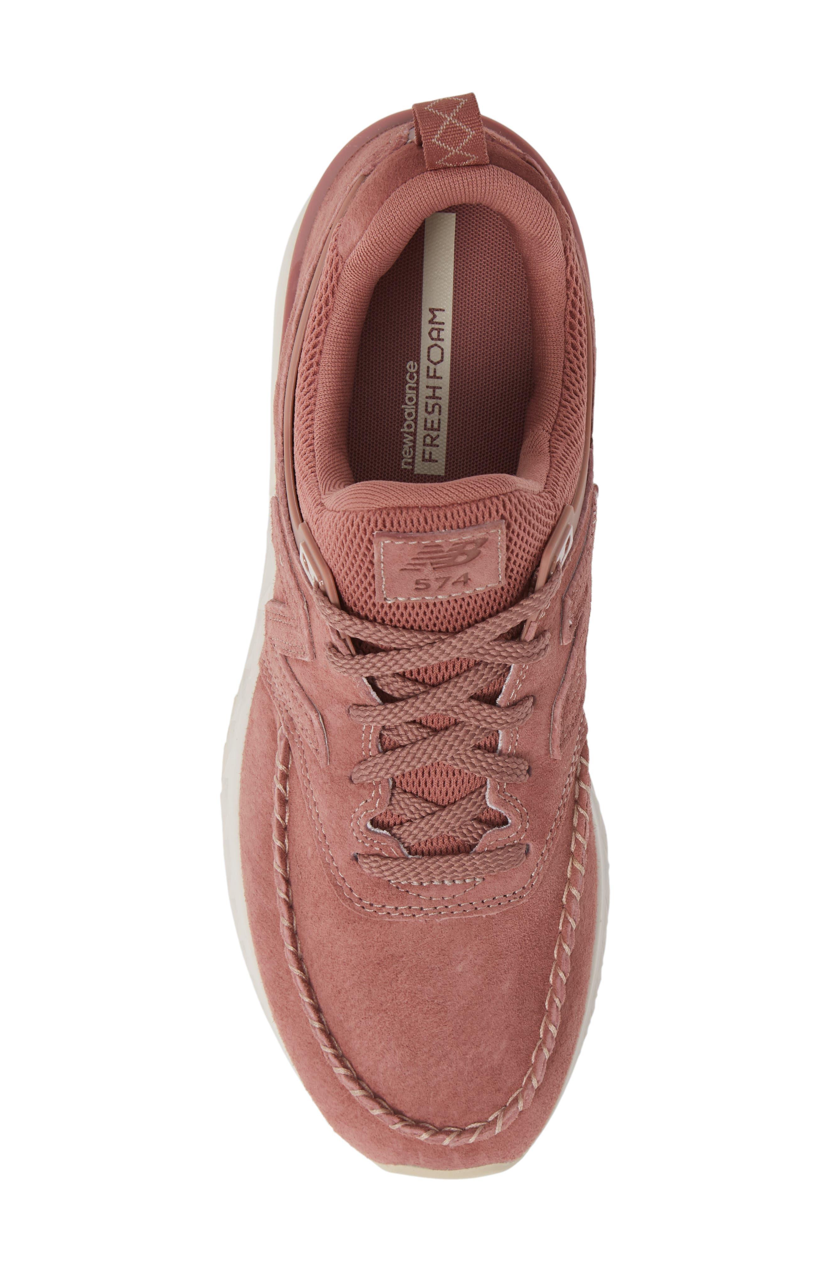 574 Sport Sneaker,                             Alternate thumbnail 5, color,                             DARK OXIDE SUEDE/ MESH