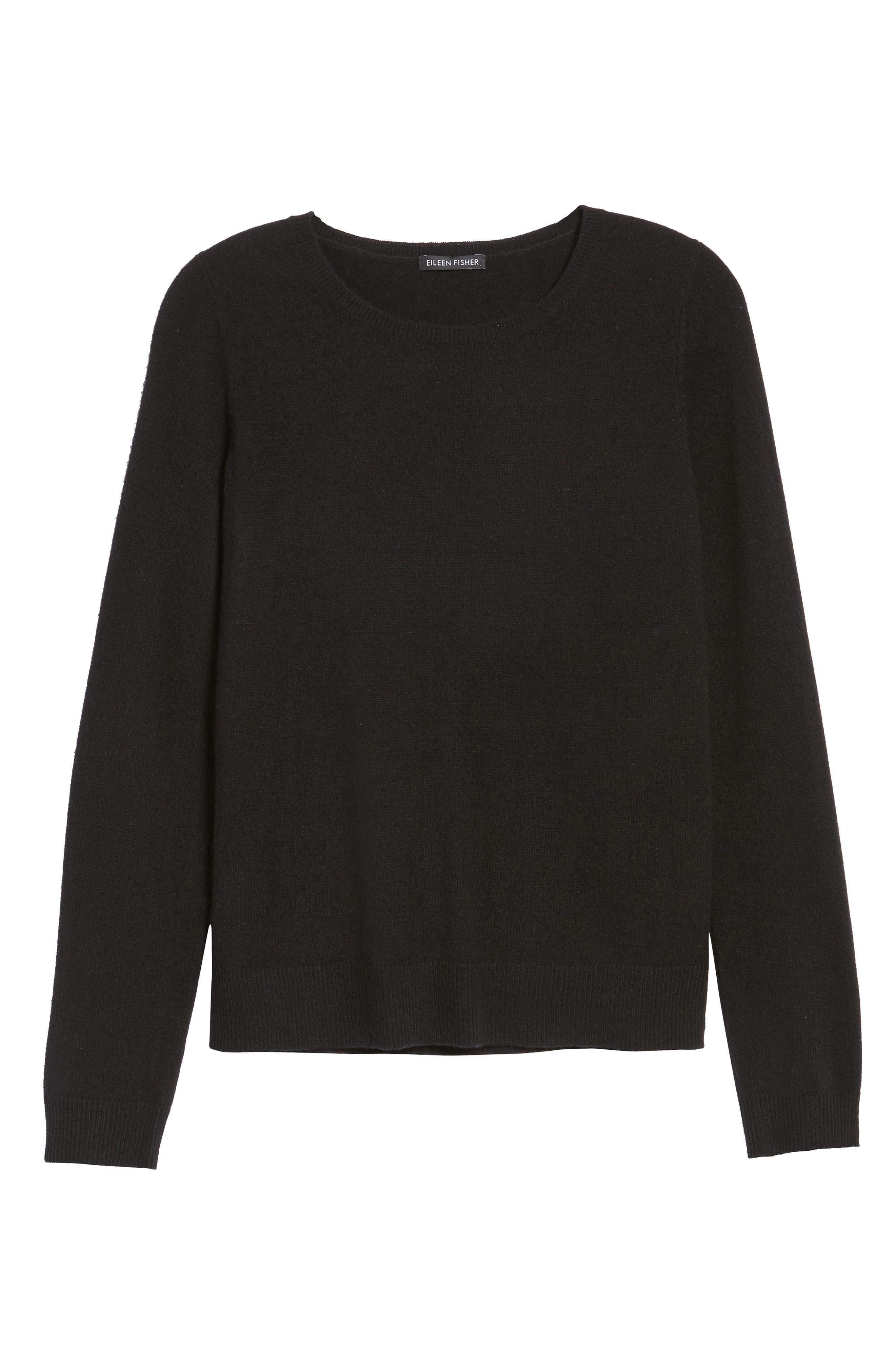 Cashmere Sweater,                             Alternate thumbnail 6, color,                             001