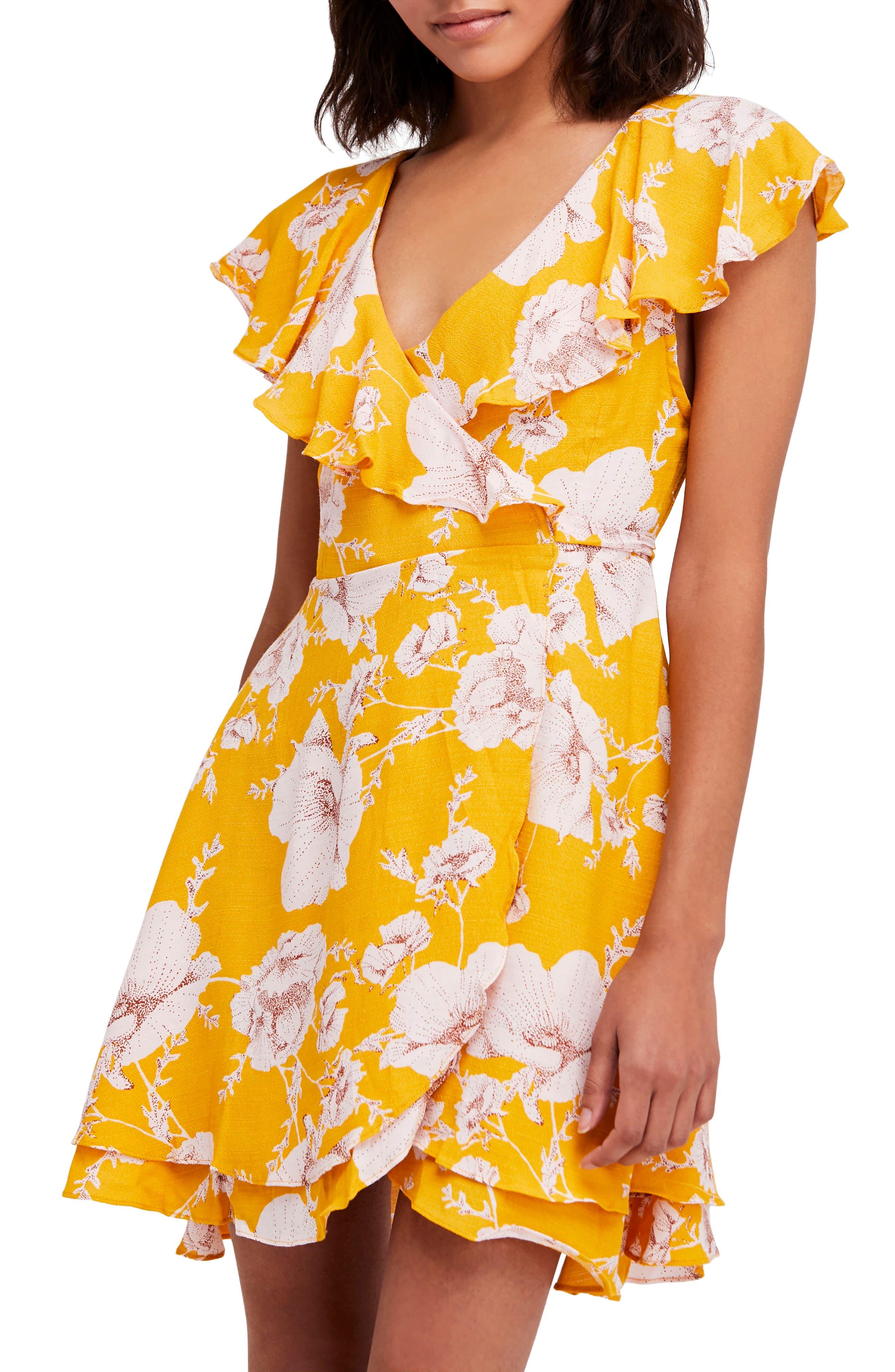 French Quarter Print Wrap Minidress,                             Alternate thumbnail 19, color,