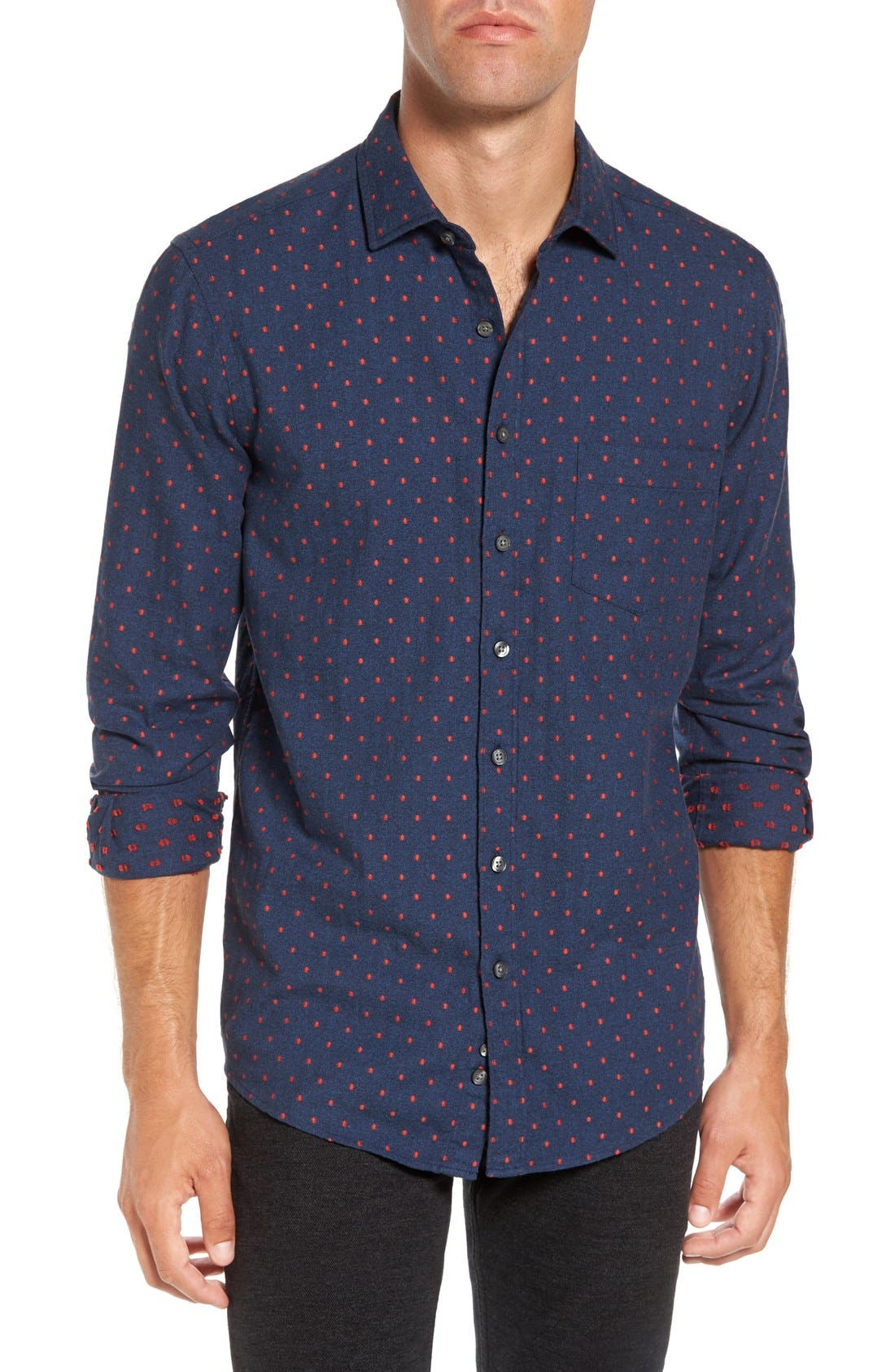 Annaby Sports Fit Dot Sport Shirt,                         Main,                         color, 423