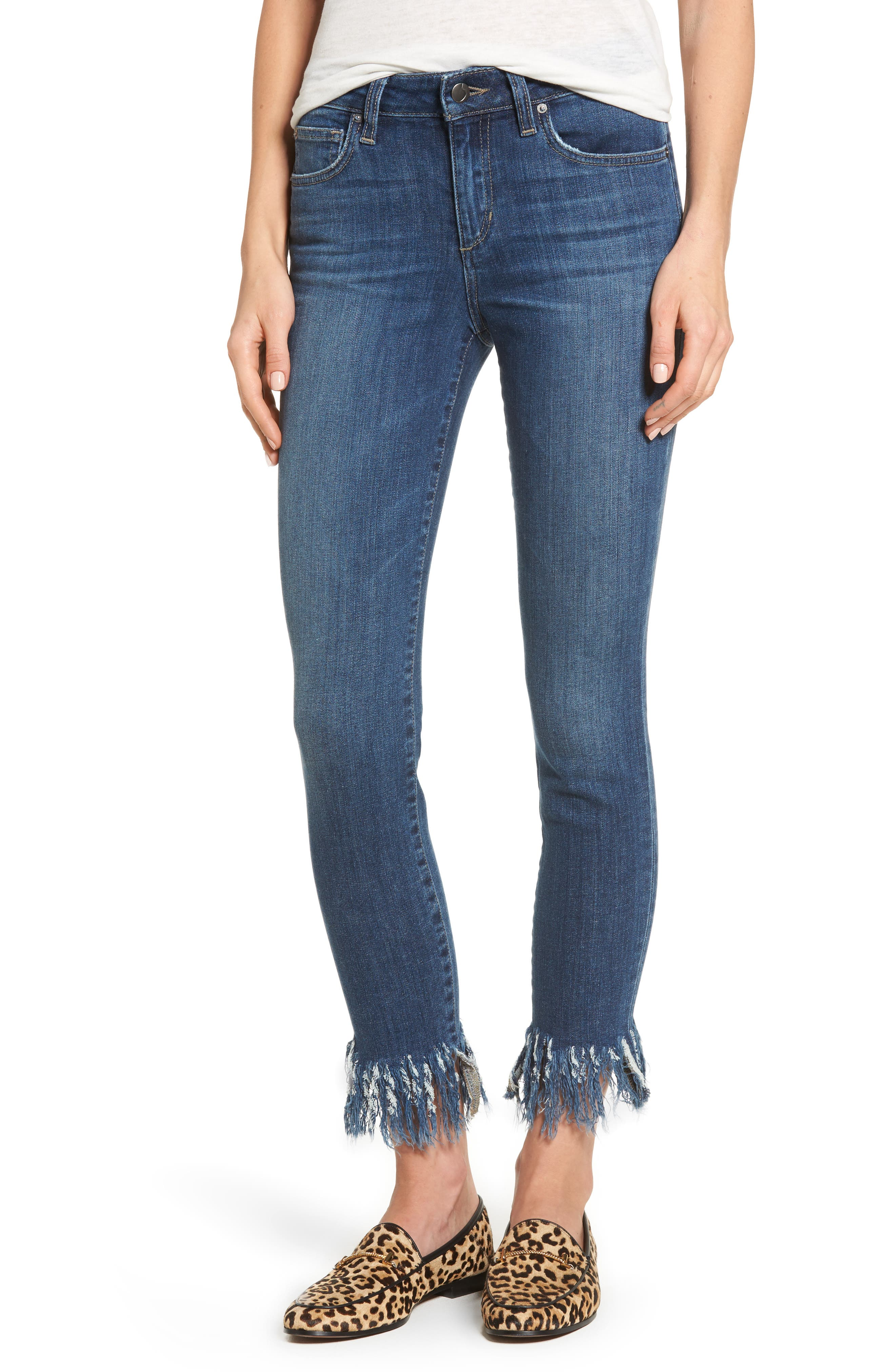 Icon Ankle Skinny Jeans,                             Main thumbnail 1, color,                             FERRA