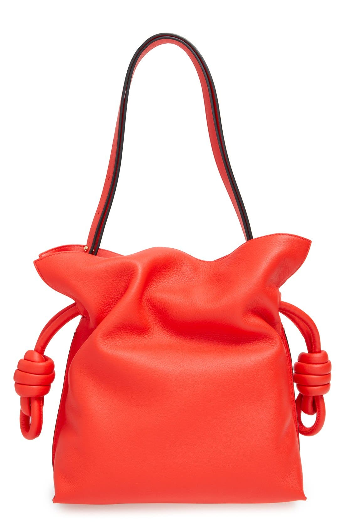 'Small Flamenco Knot' Calfskin Leather Bag,                             Alternate thumbnail 3, color,                             600