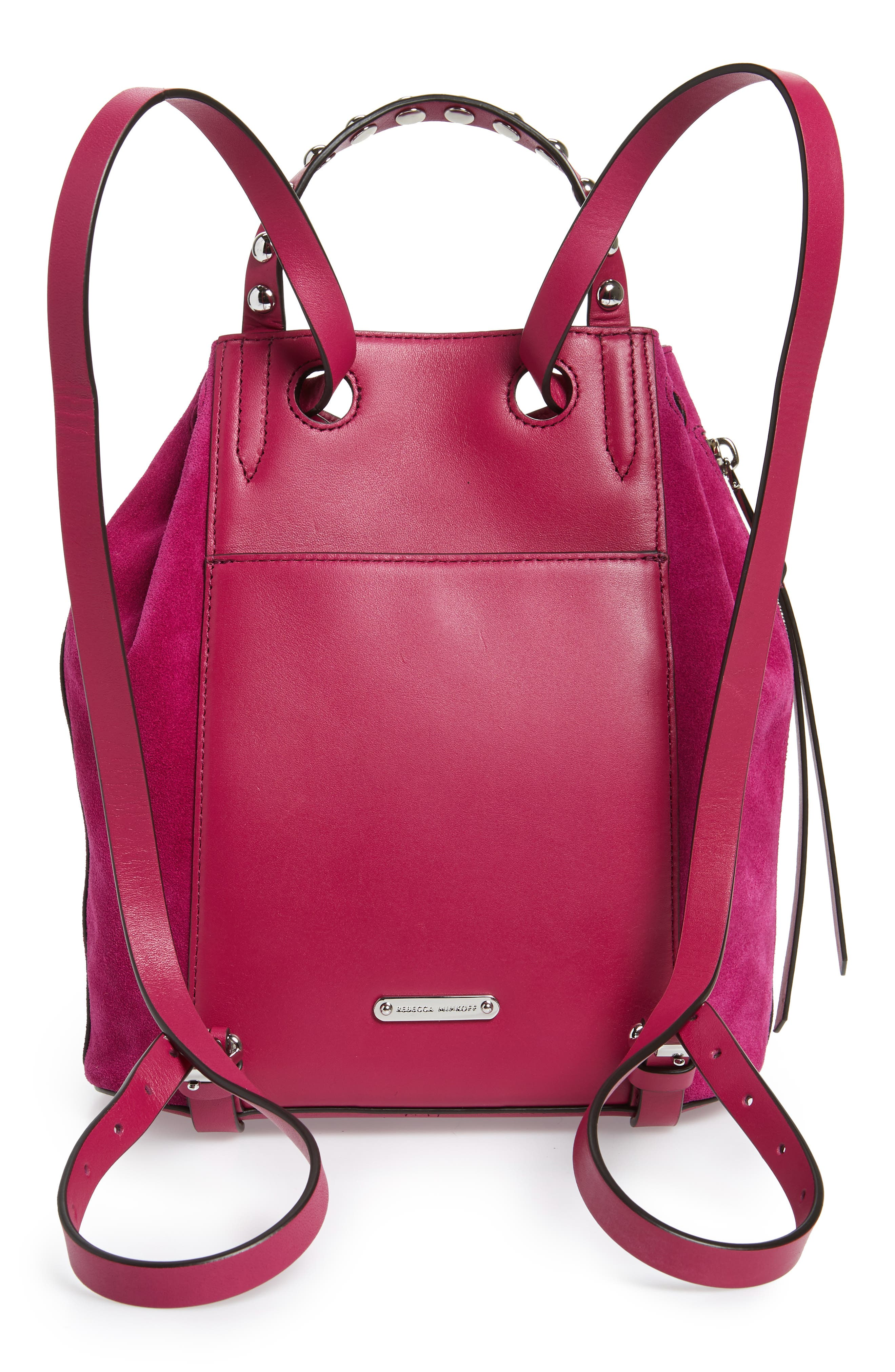 Small Blythe Leather Backpack,                             Alternate thumbnail 3, color,                             650