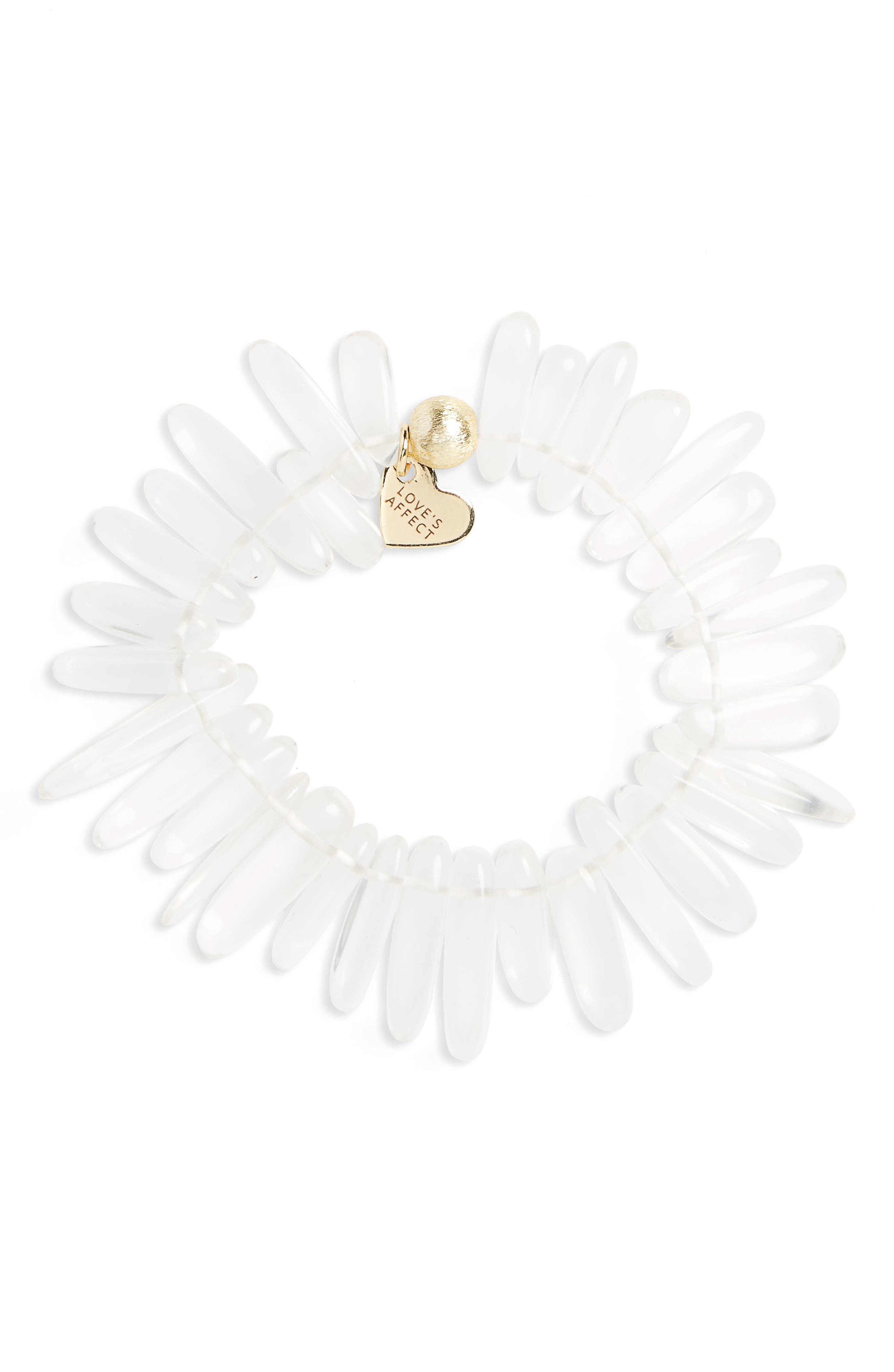 Love's Affect Jenna Semiprecious Stone Stretch Bracelet,                             Main thumbnail 2, color,