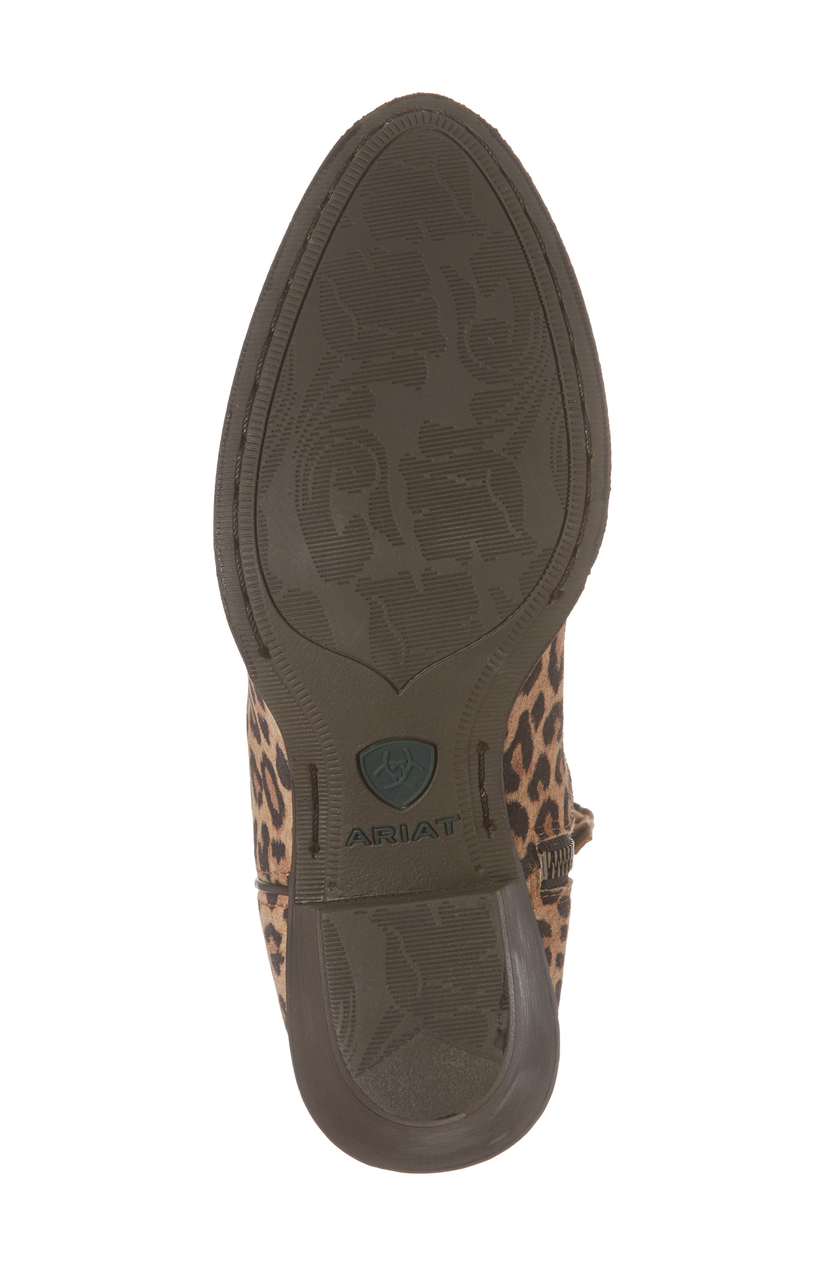 Darlin Short Western Boot,                             Alternate thumbnail 6, color,                             LEOPARD PRINT LEATHER