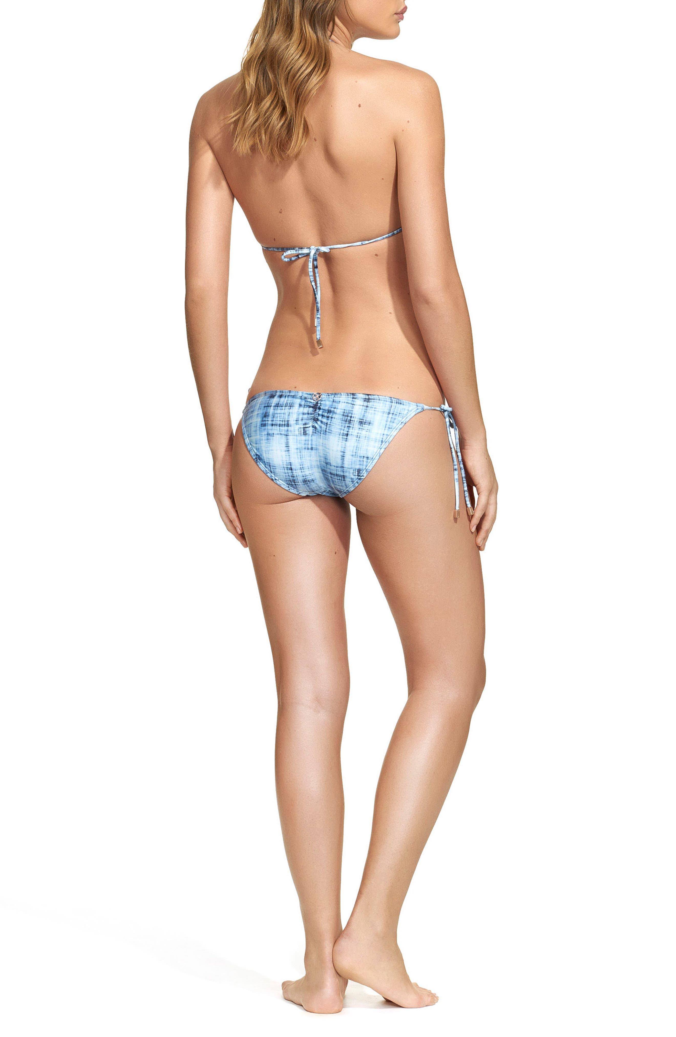 Rustic Ripple Side Tie Bikini Bottoms,                             Alternate thumbnail 4, color,                             400