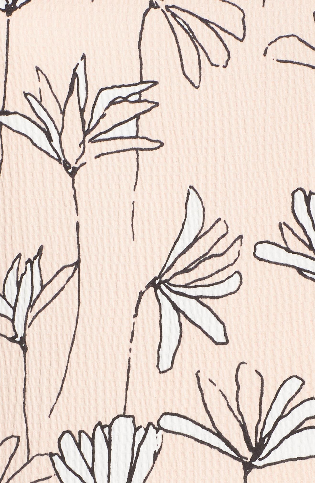 MAGGY LONDON,                             Printed Handkerchief Hem Dress,                             Alternate thumbnail 6, color,                             690
