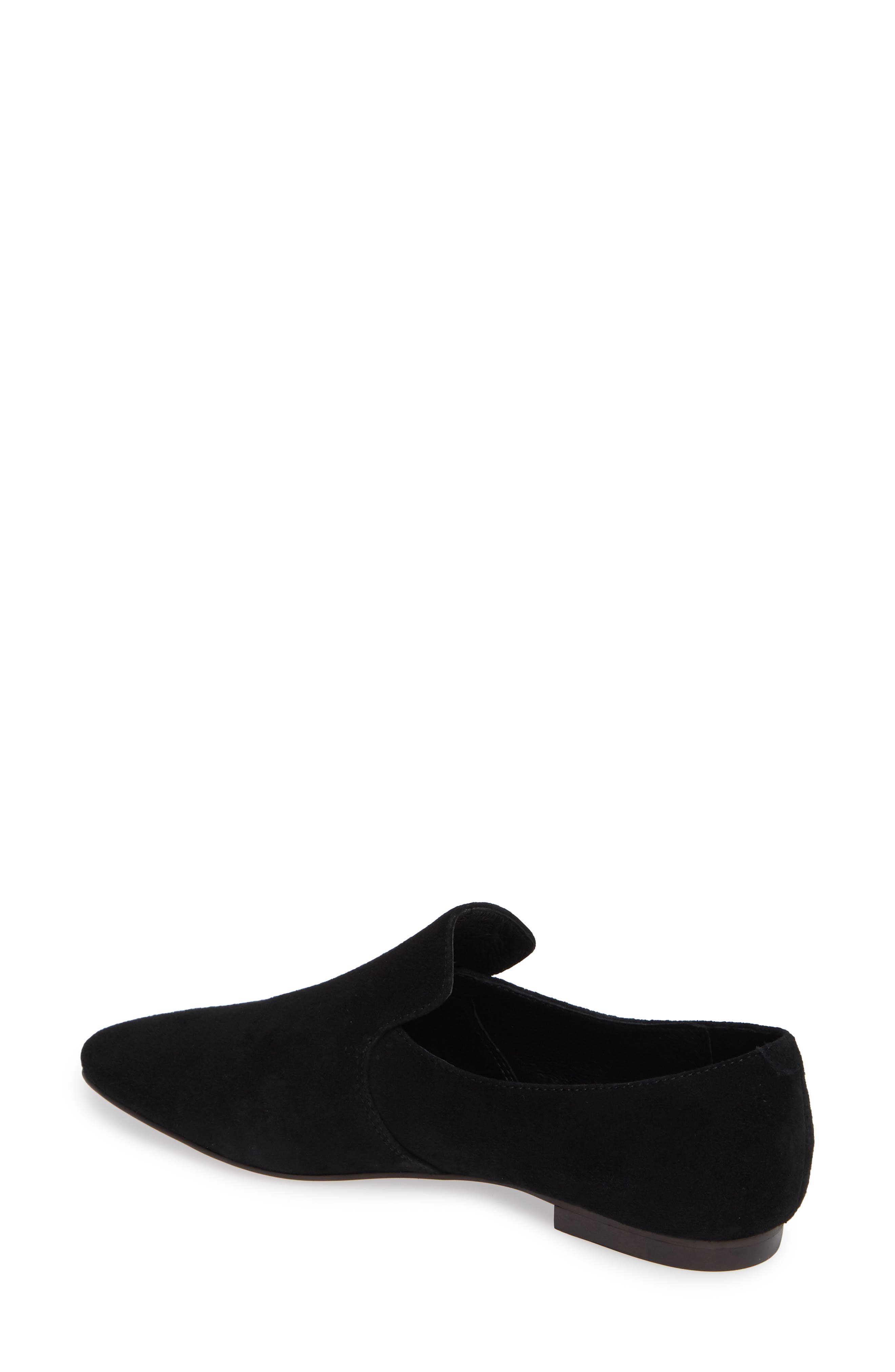 Priestly Loafer,                             Alternate thumbnail 2, color,                             BLACK SUEDE