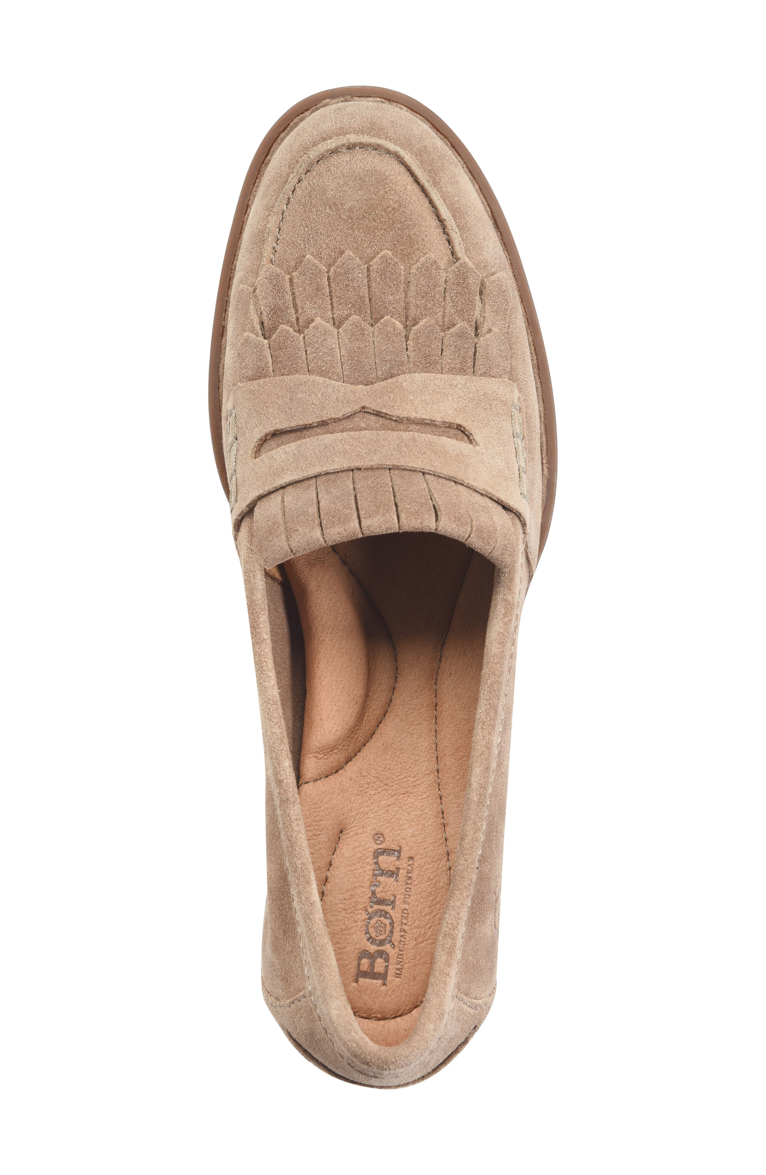 Lorens Loafer,                             Alternate thumbnail 5, color,                             TAUPE SUEDE