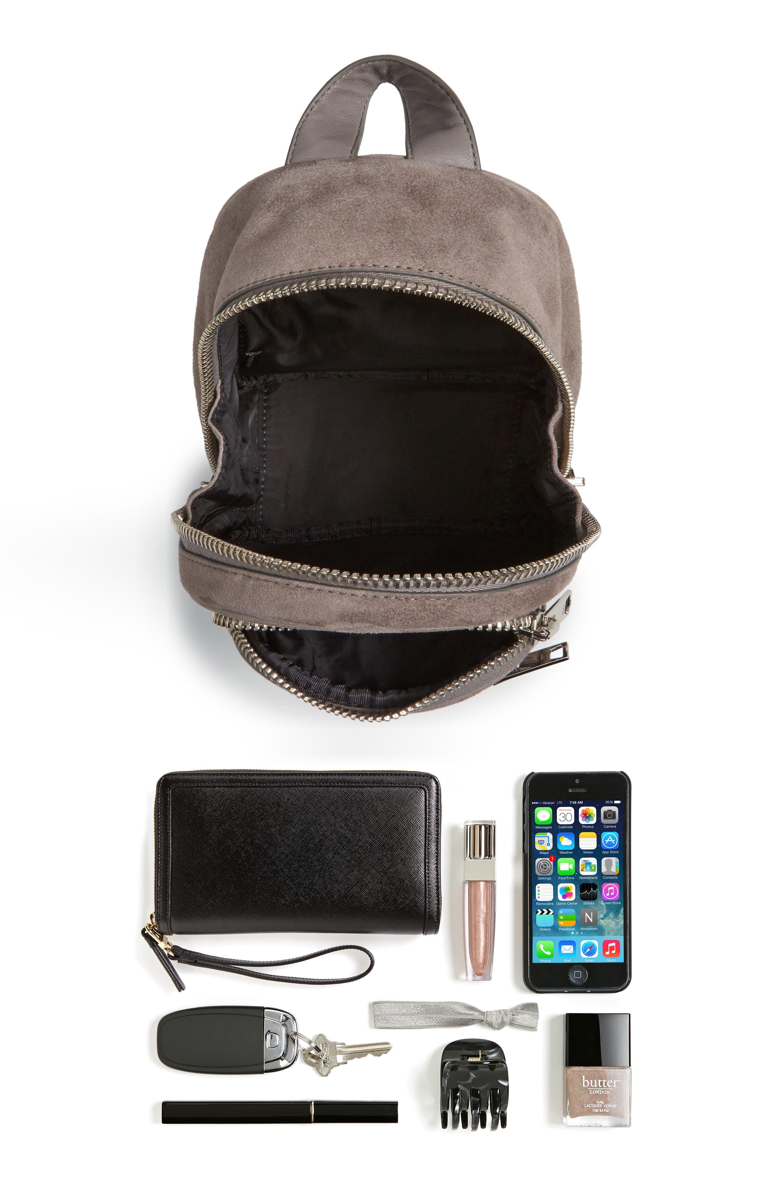 Mini Attica Leather Crossbody Backpack,                             Alternate thumbnail 7, color,                             080