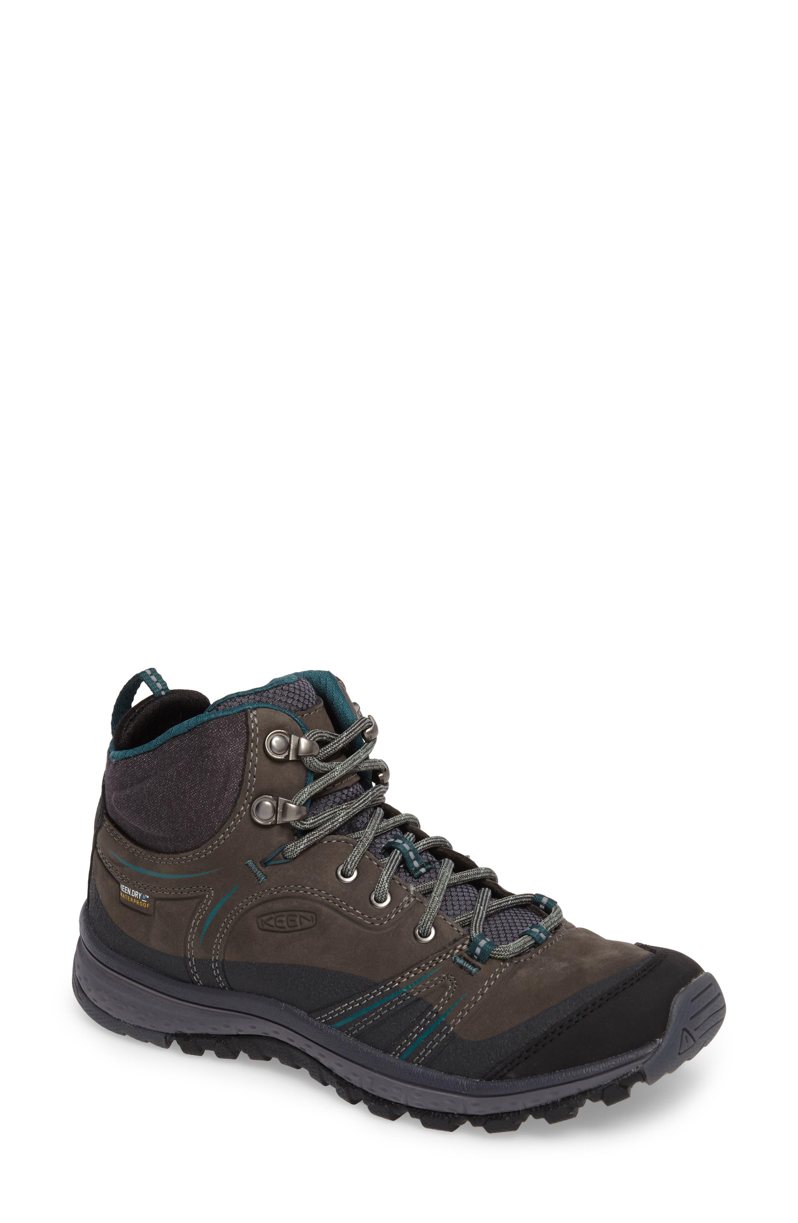 Terradora Leather Waterproof Hiking Boot,                             Main thumbnail 1, color,                             MUSHROOM NUBUCK LEATHER