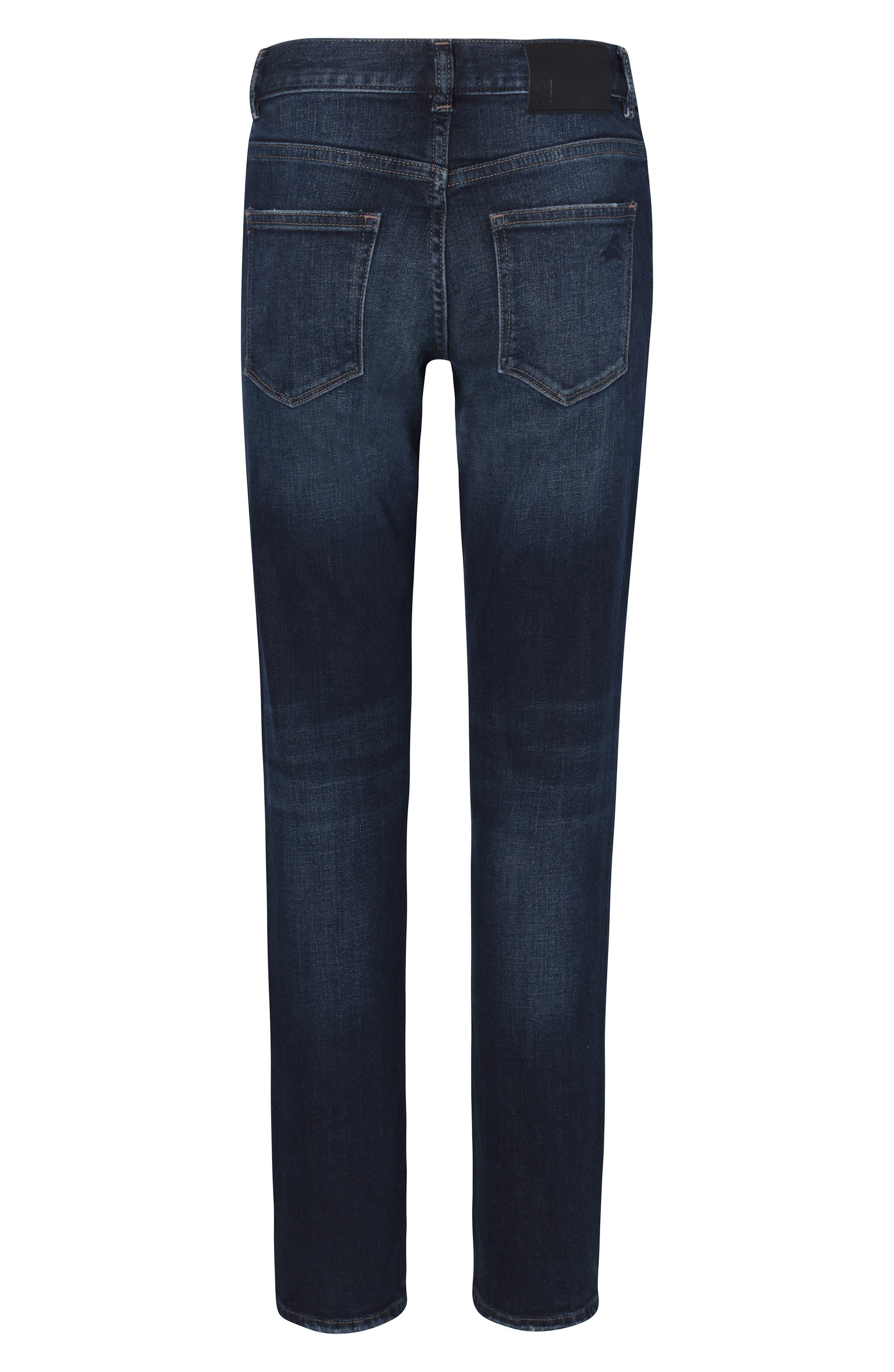 Brady Distressed Slim Fit Jeans,                             Alternate thumbnail 2, color,                             BLUE