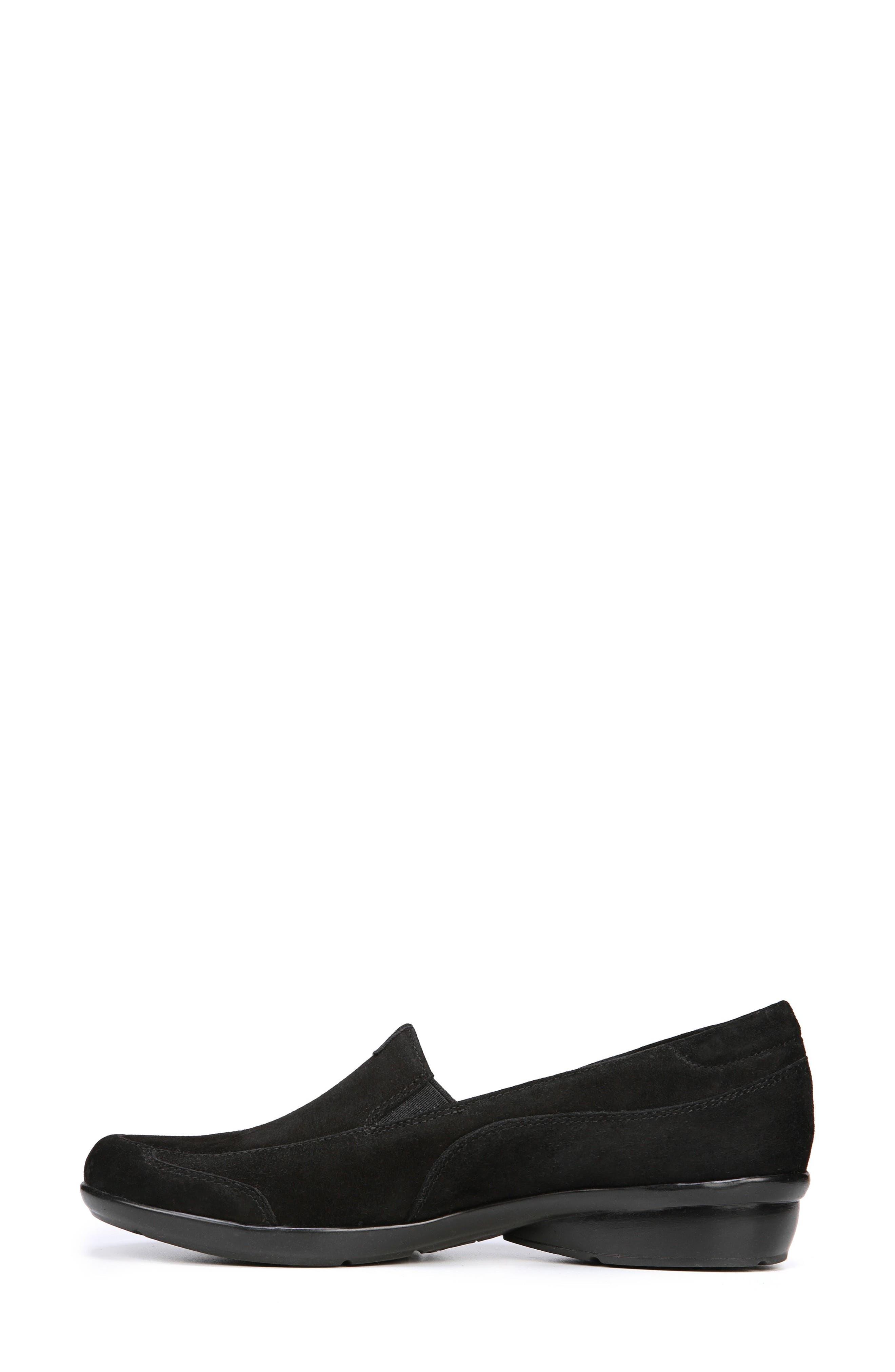 'Channing' Loafer,                             Alternate thumbnail 7, color,                             BLACK SUEDE