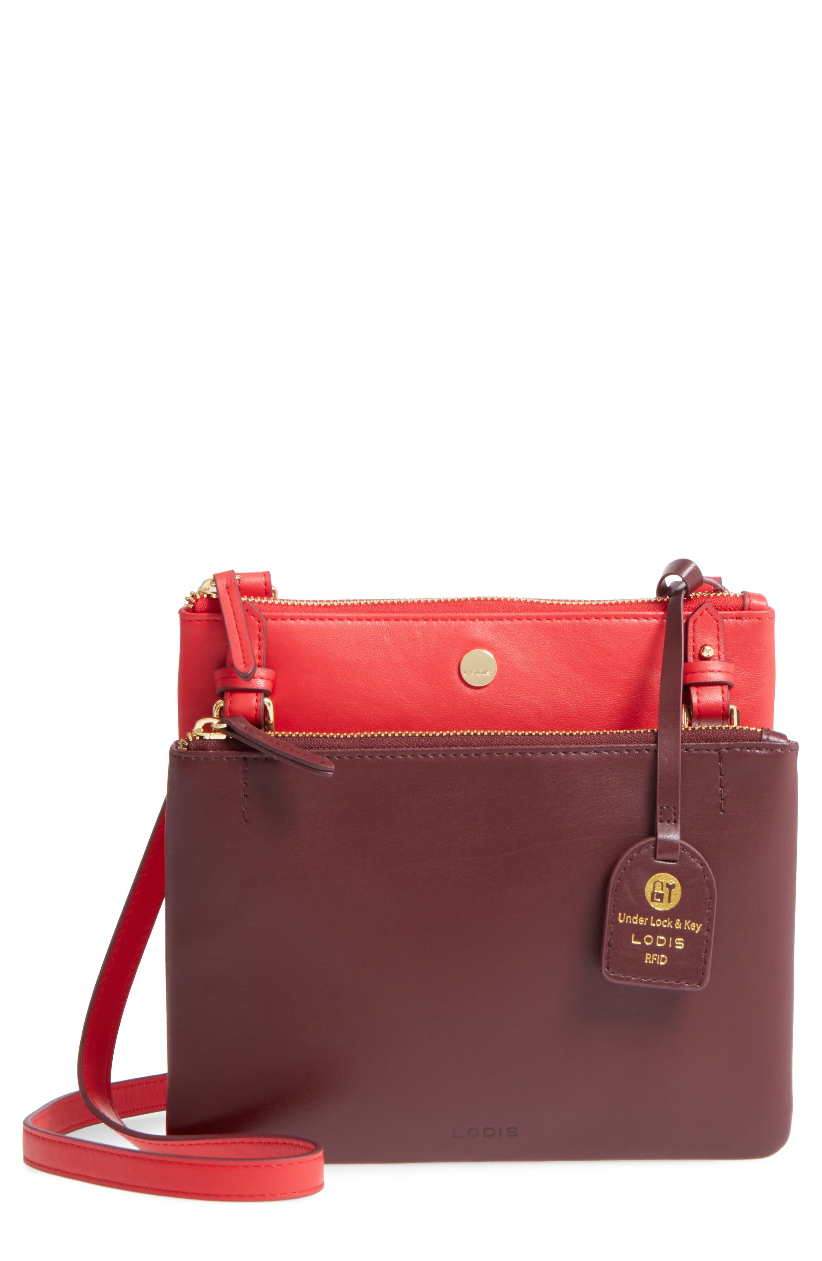 Downtown Latisha RFID Leather Crossbody,                             Main thumbnail 3, color,