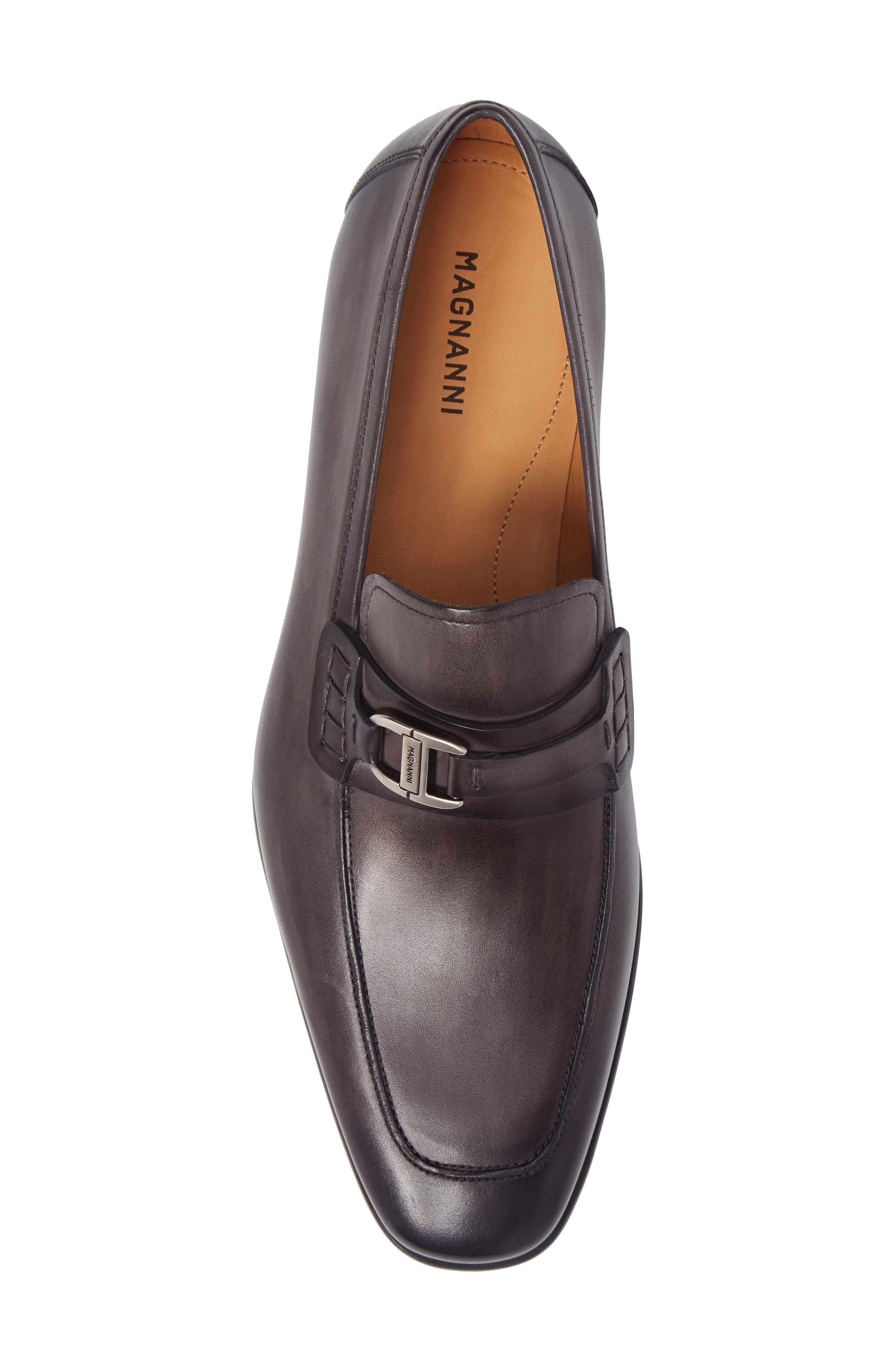 Rufino Bit Loafer,                             Alternate thumbnail 5, color,                             GREY LEATHER