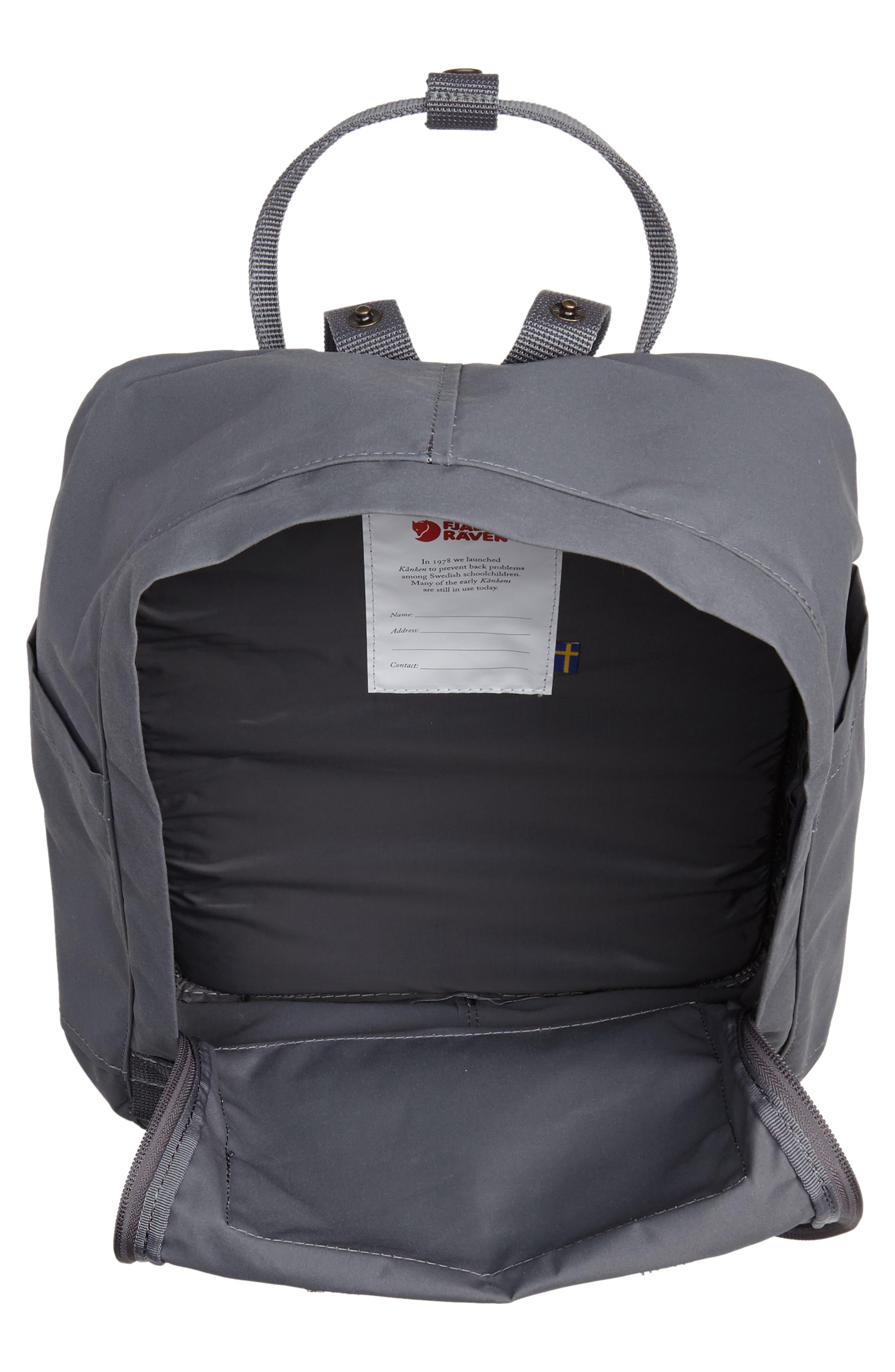 'Kånken' Water Resistant Backpack,                             Alternate thumbnail 4, color,                             SUPER GREY