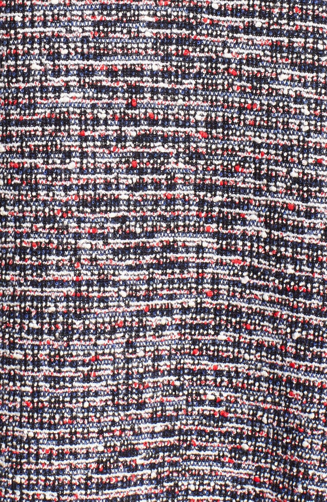 'Tillora' Tweed Fit & Flare Dress,                             Alternate thumbnail 2, color,                             001