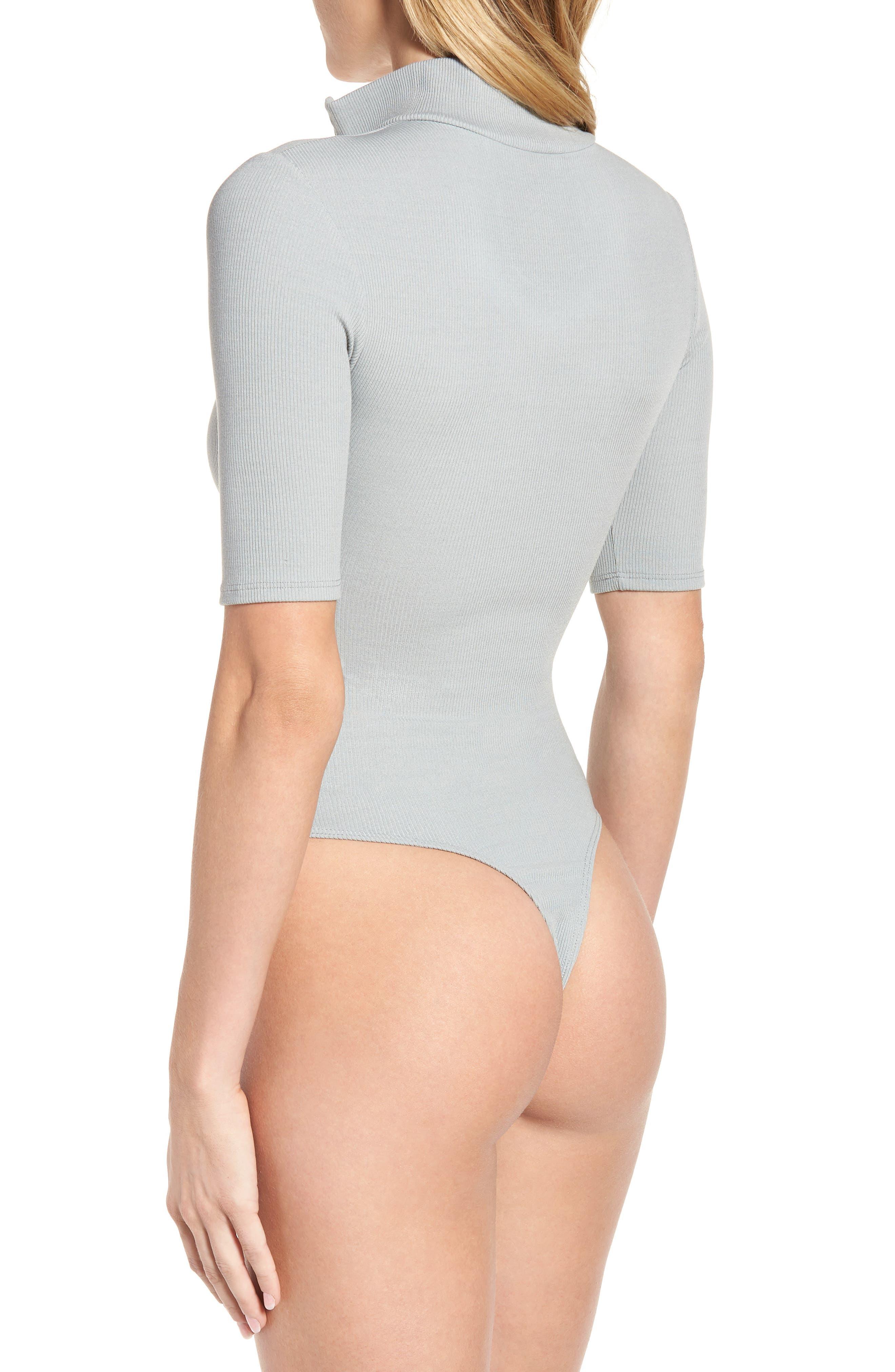 Mock Neck Zip Bodysuit,                             Alternate thumbnail 8, color,
