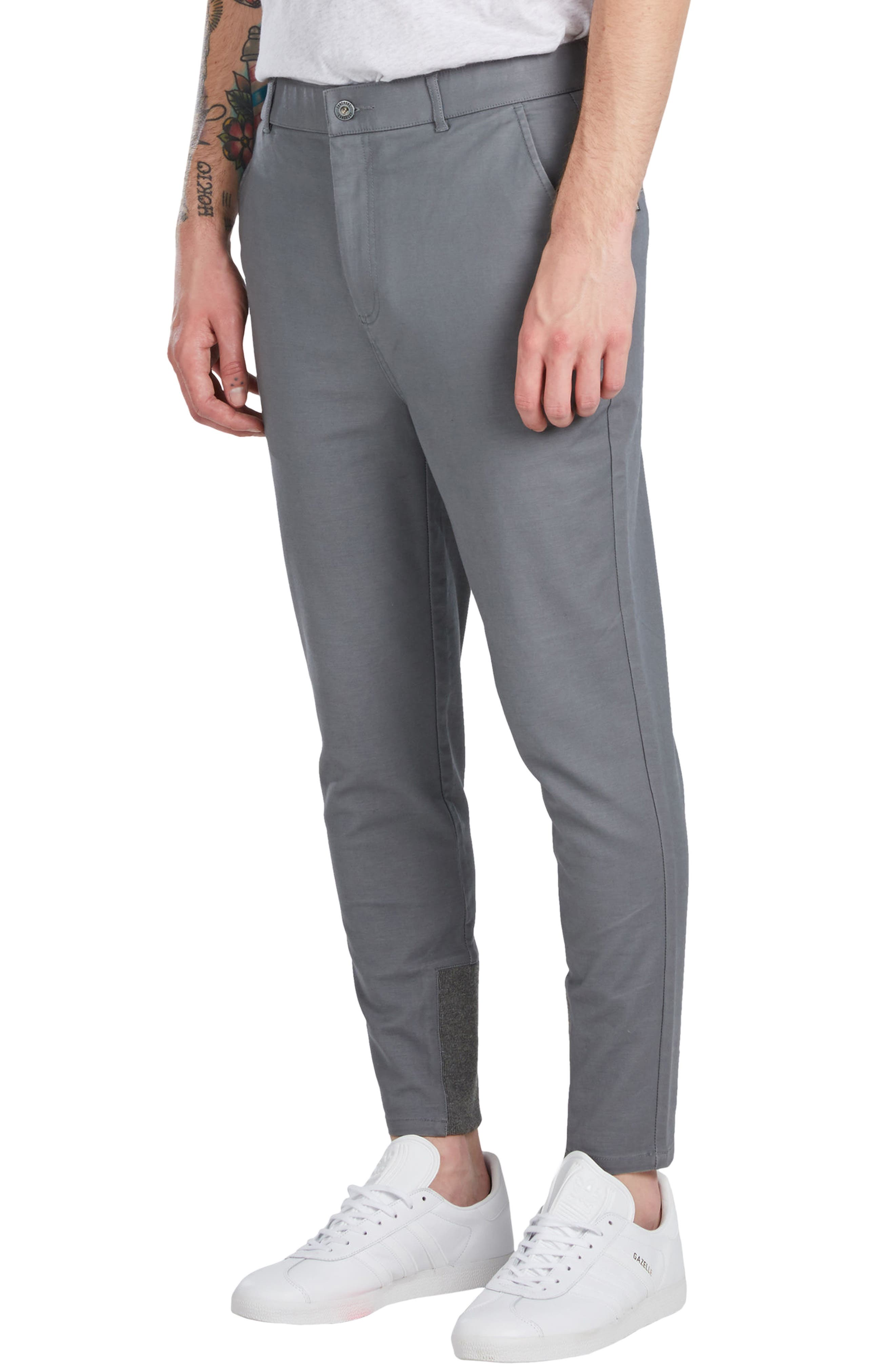 'Sharpshot' Slouchy Skinny Fit Chinos,                             Alternate thumbnail 4, color,                             031