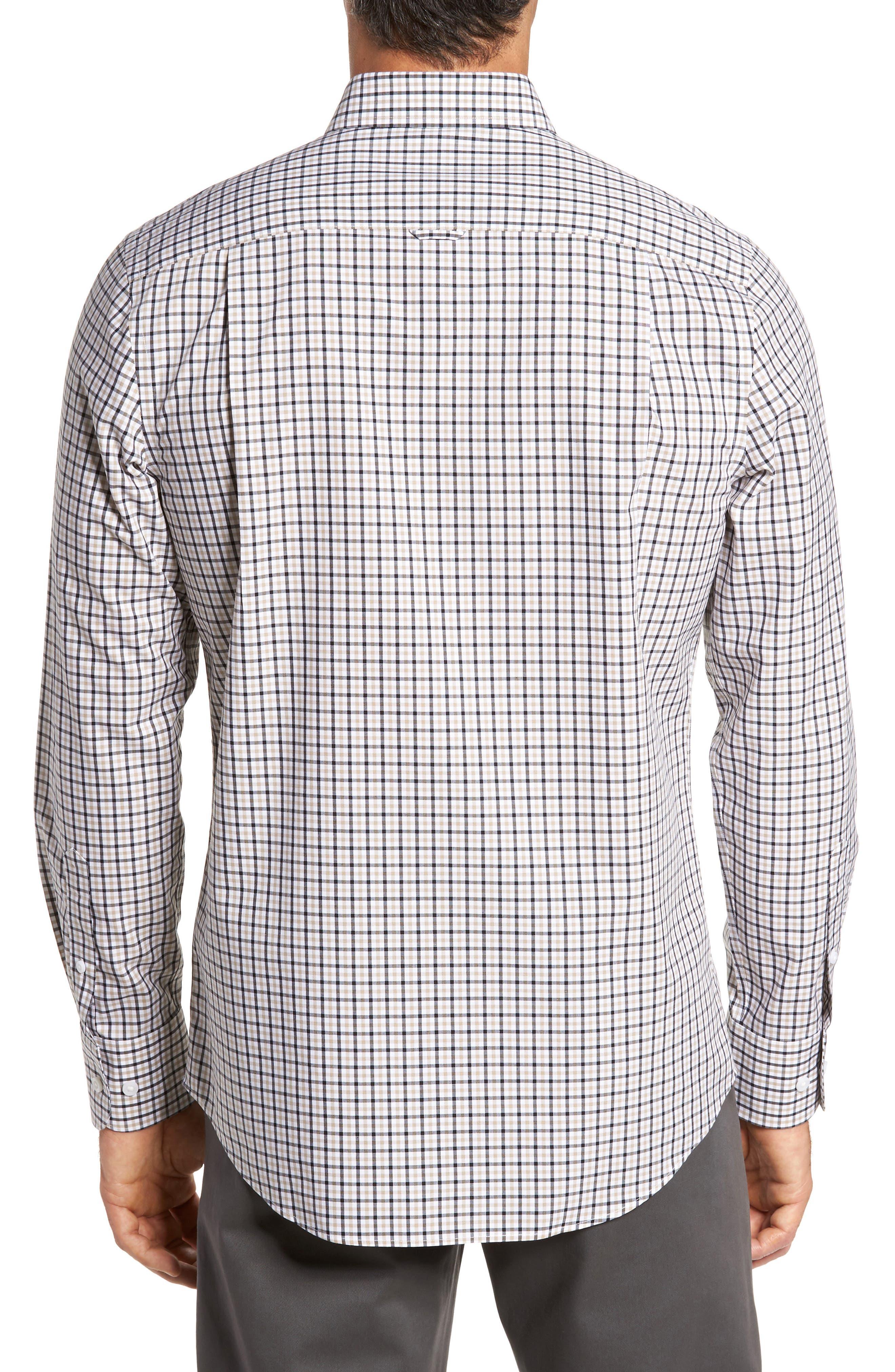 Smartcare<sup>™</sup> Regular Fit Plaid Sport Shirt,                             Alternate thumbnail 11, color,