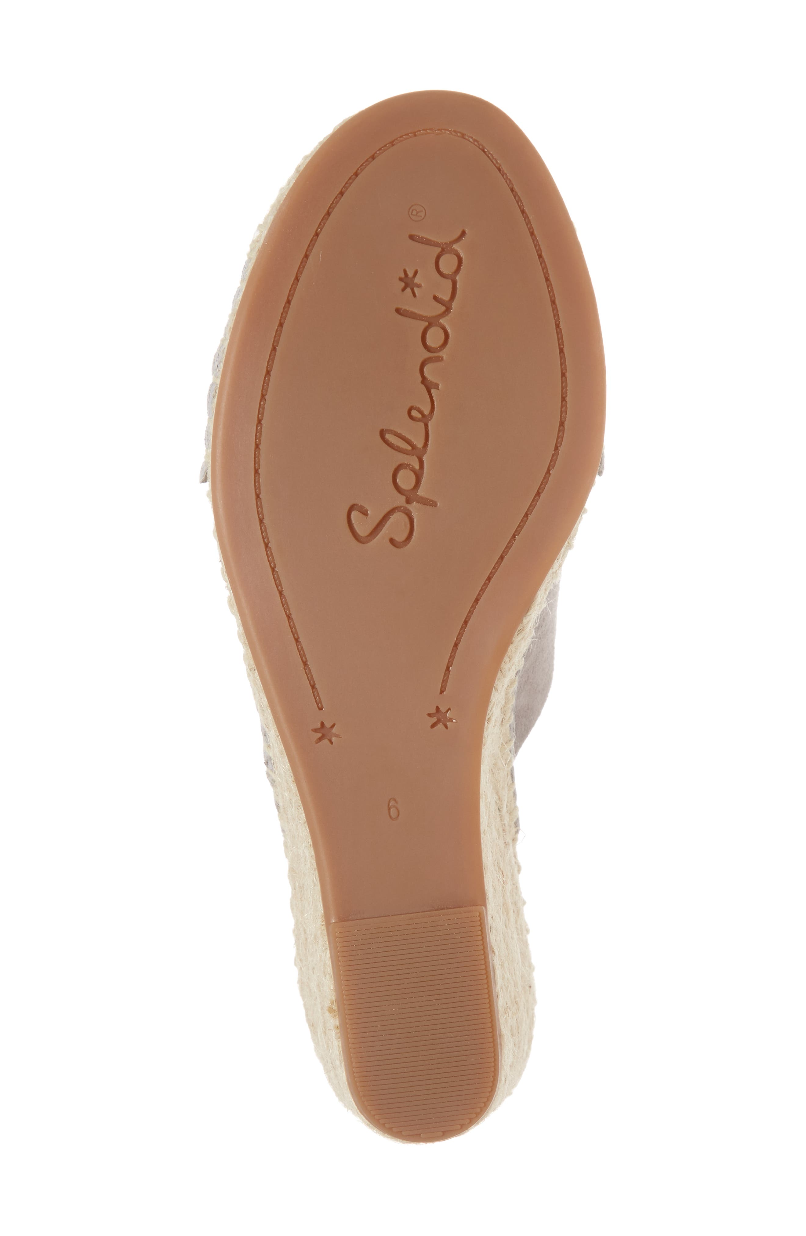 Bautista Knotted Wedge Sandal,                             Alternate thumbnail 6, color,                             053