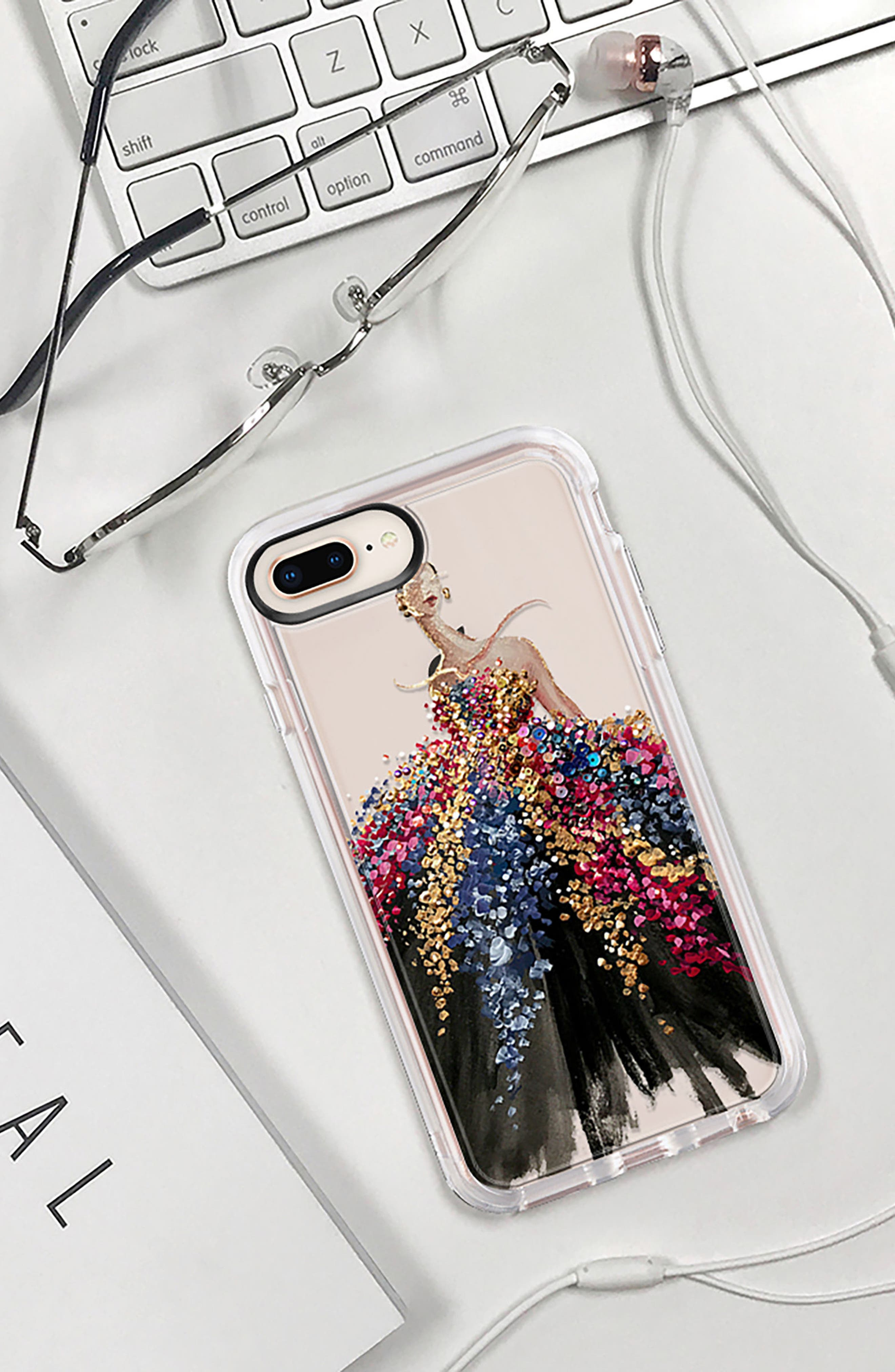 Blooming Gown iPhone 7/8 & 7/8 Plus Case,                             Alternate thumbnail 9, color,                             MULTI