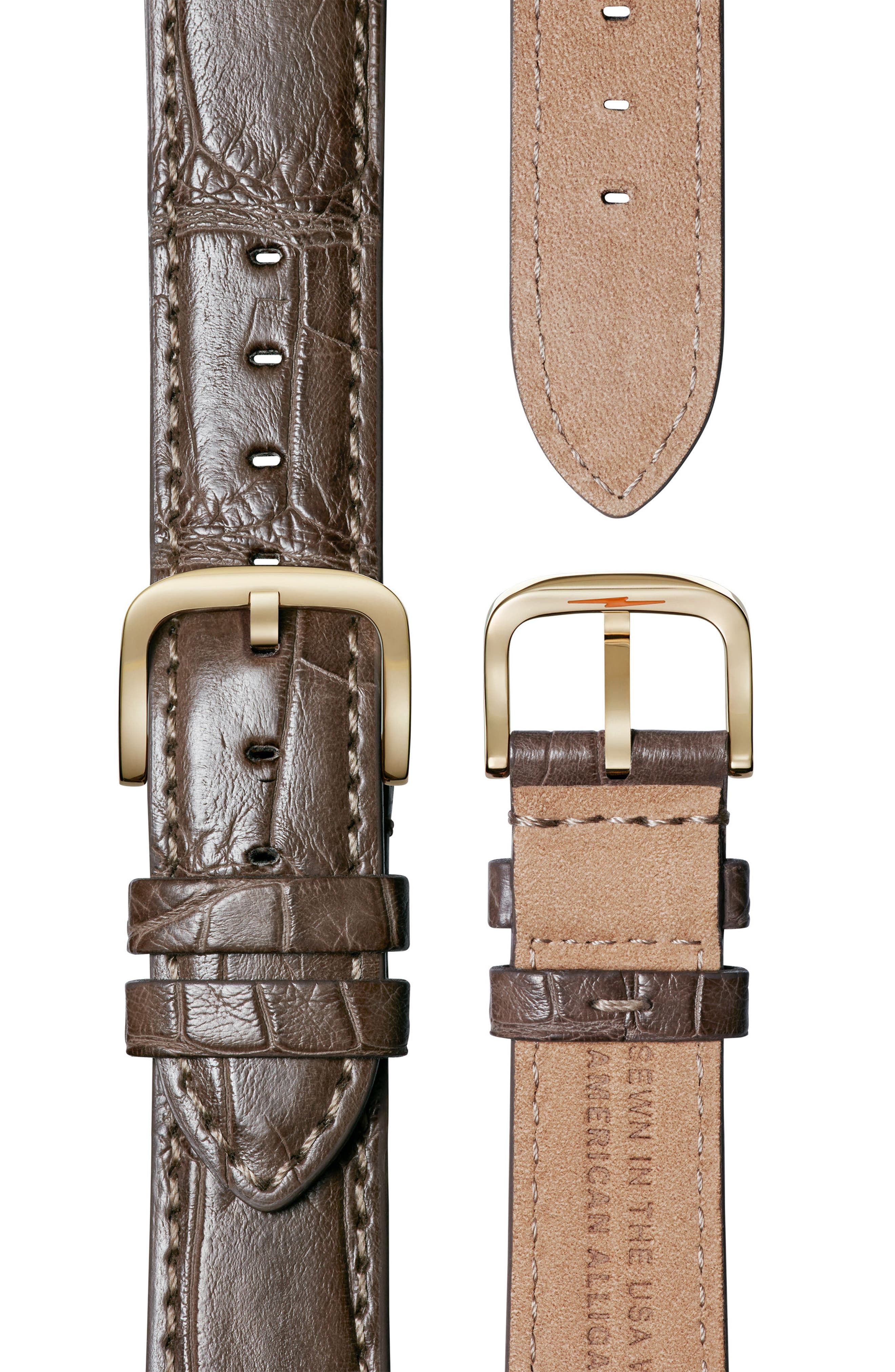 The Muldowney Rectangular Leather Strap Watch, 24mm x 32mm,                             Alternate thumbnail 18, color,