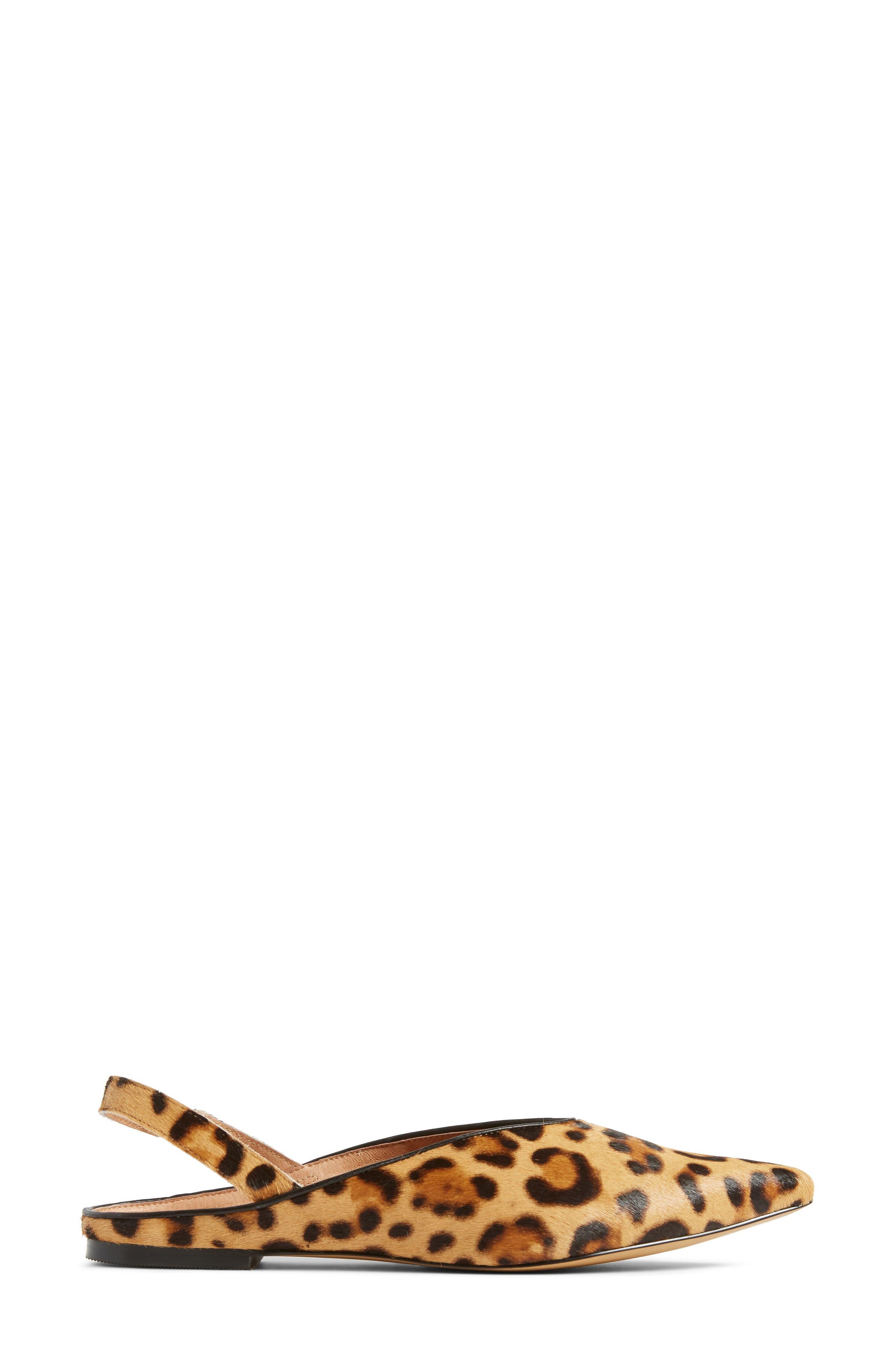 Sadie Genuine Calf Hair Slingback Flat,                             Alternate thumbnail 16, color,