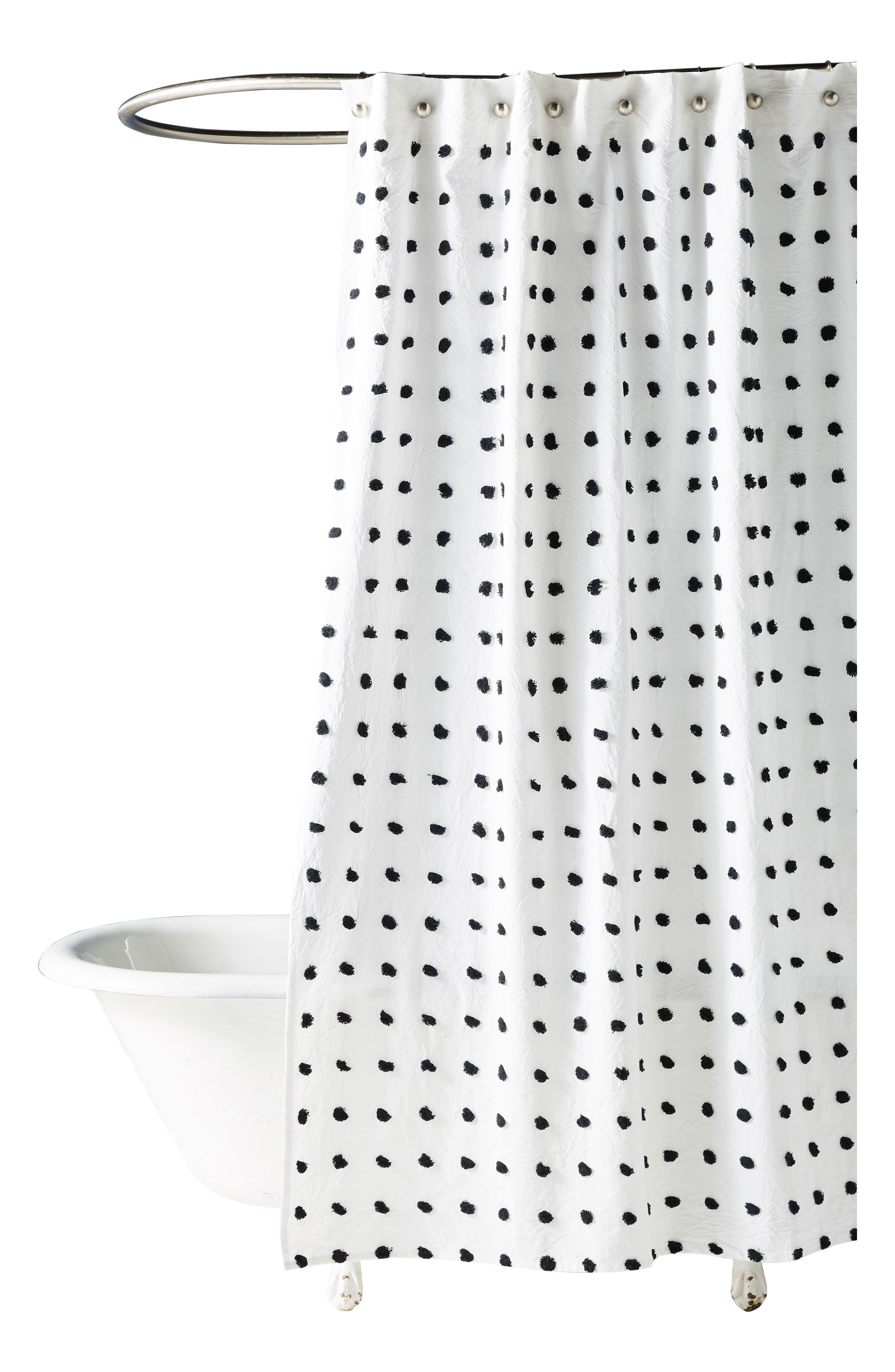 Kanti Shower Curtain,                             Alternate thumbnail 3, color,                             IVORY