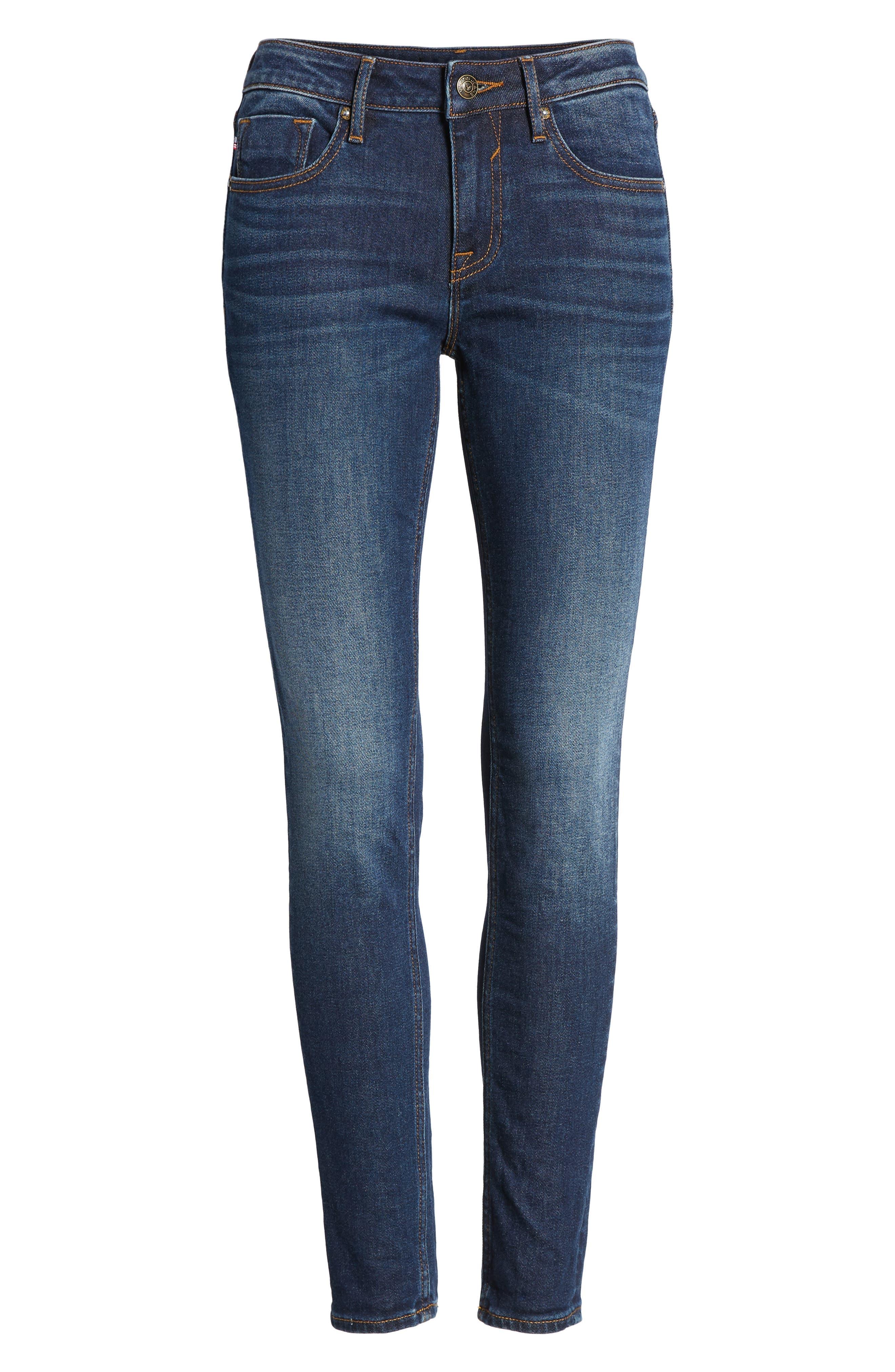 Jagger Skinny Jeans,                             Alternate thumbnail 7, color,                             DARK WASH