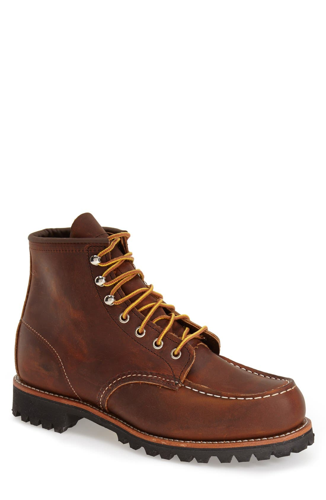 'Roughneck' Boot,                             Main thumbnail 1, color,                             COPPER ROUGH AND TOUGH LEATHER