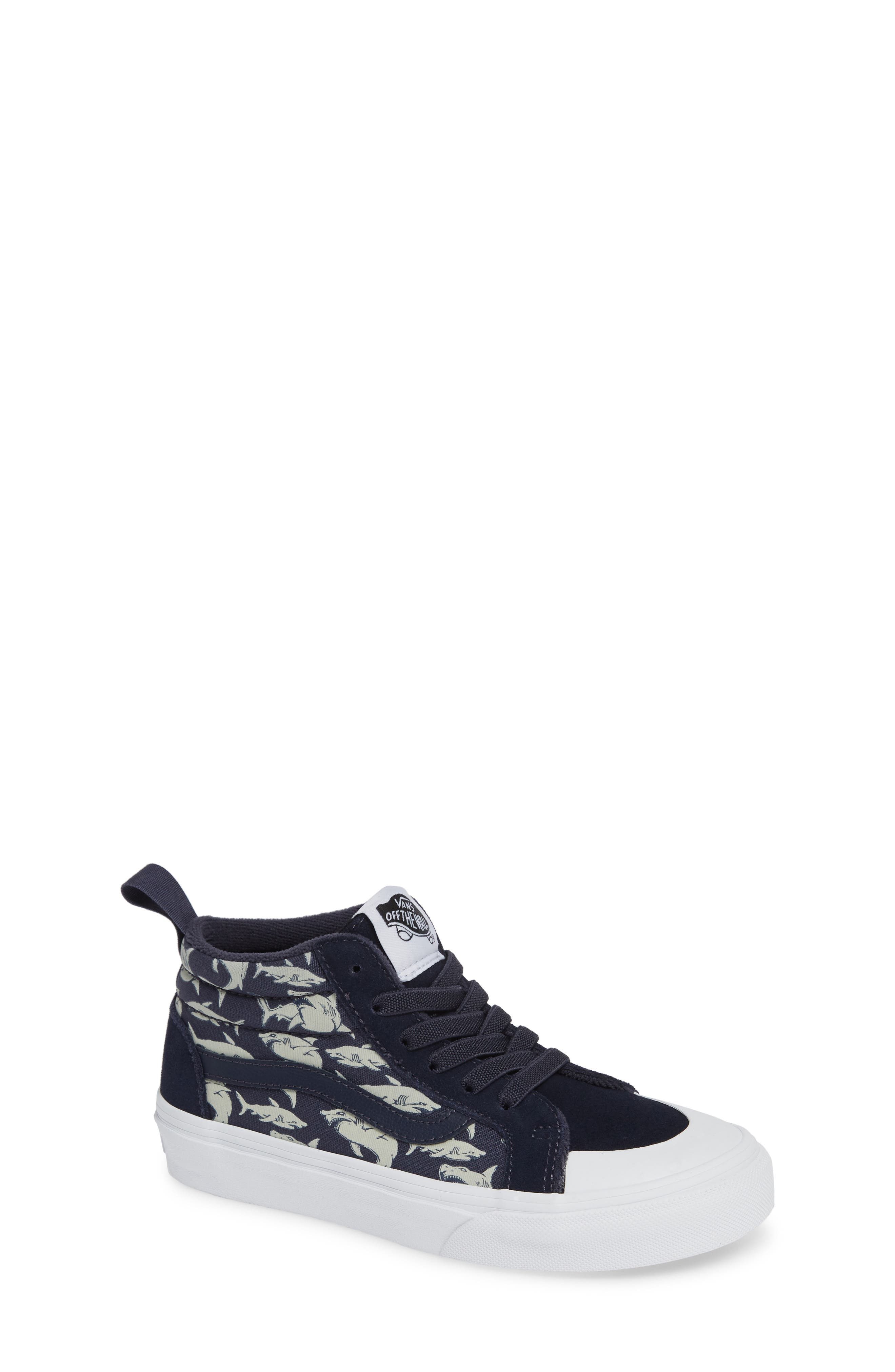 Racer Mid Elastic Lace Sneaker,                             Main thumbnail 1, color,                             GLOW SHARKS PARISIAN NIGHT