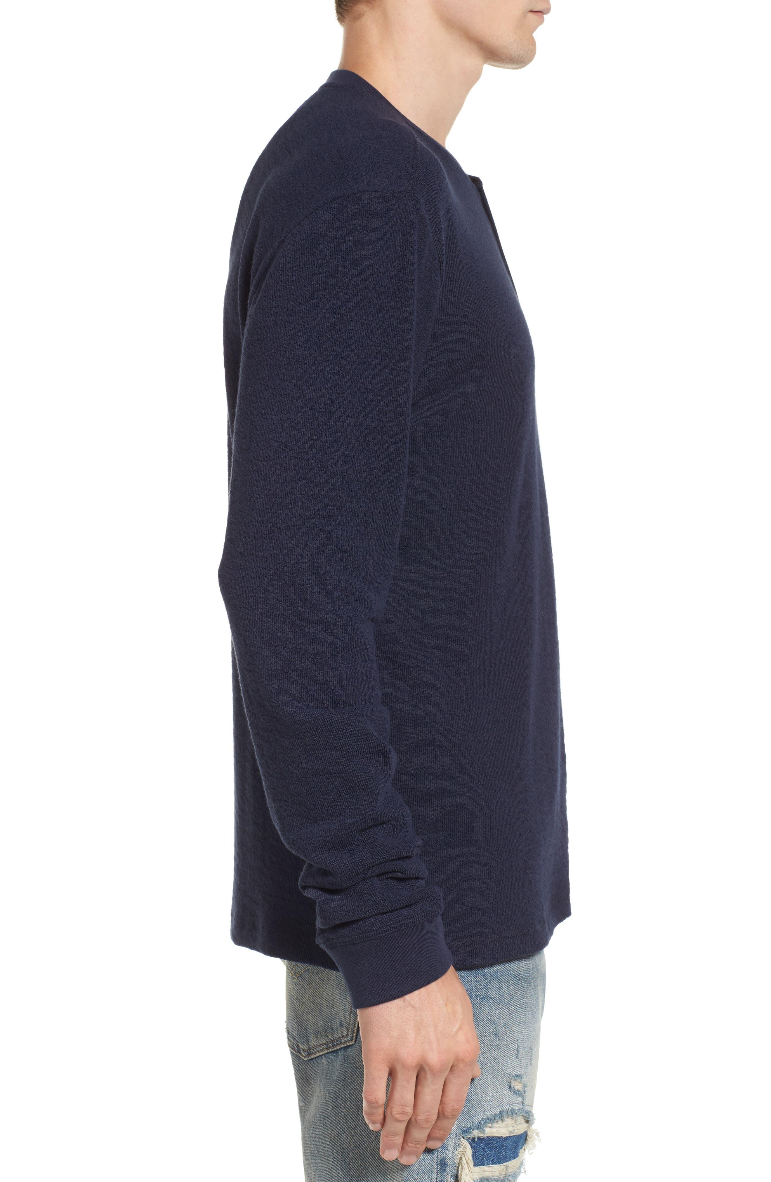 Canyon Long Sleeve Henley T-Shirt,                             Alternate thumbnail 3, color,                             410