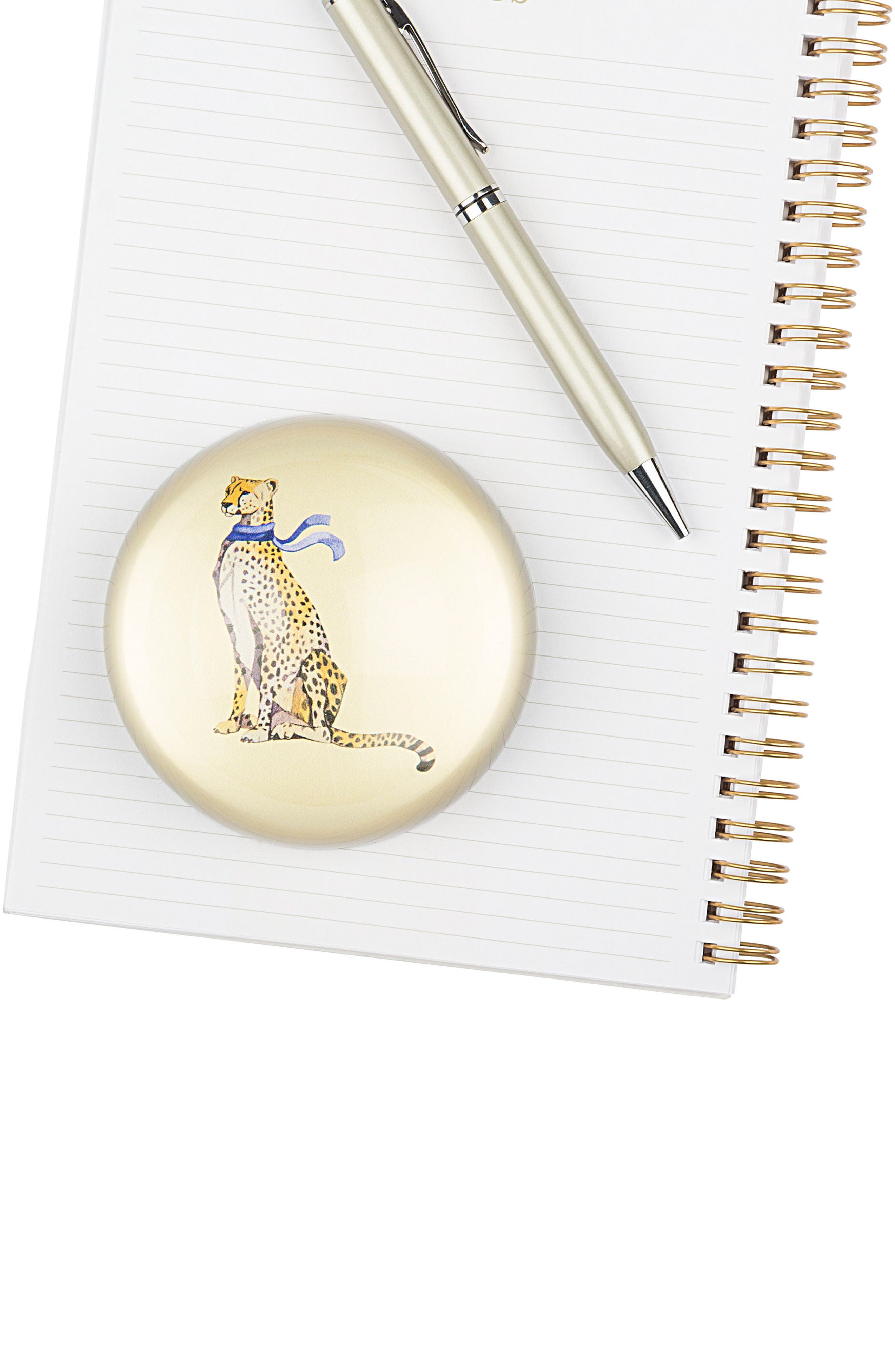 Cheetah Domed Glass Paperweight,                             Alternate thumbnail 5, color,                             700