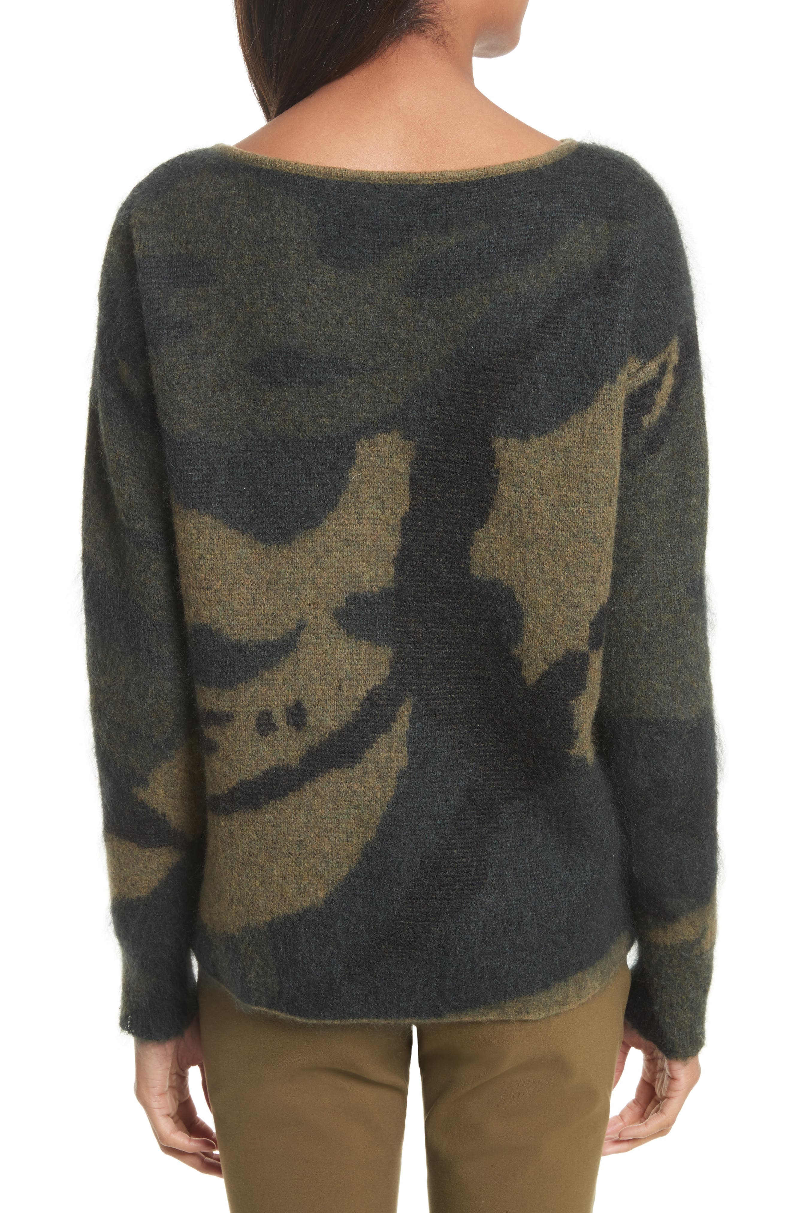 Sinclair Camouflage Jacquard Sweater,                             Alternate thumbnail 2, color,                             319