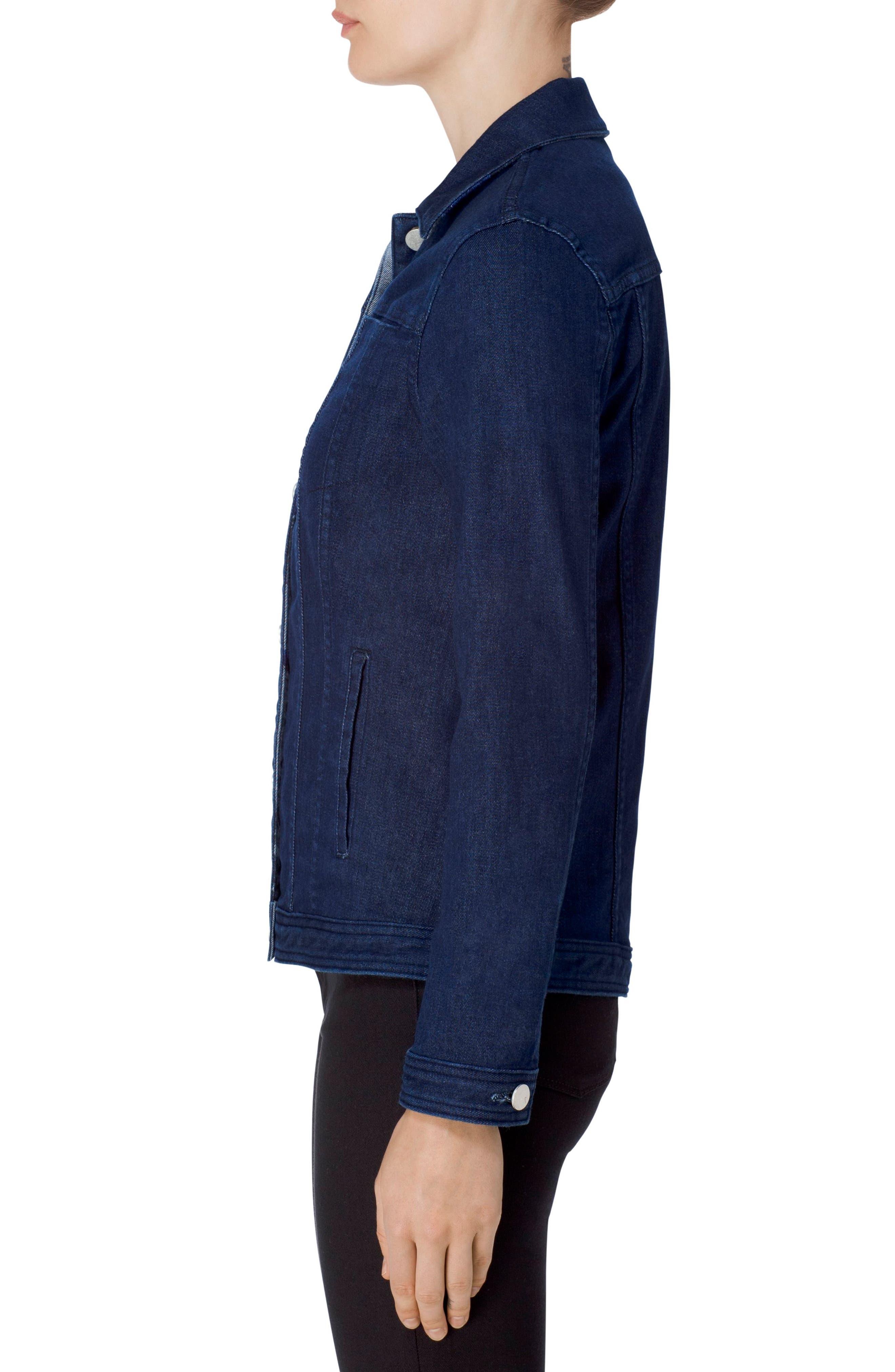 Cyra Reversible Denim Jacket,                             Alternate thumbnail 4, color,