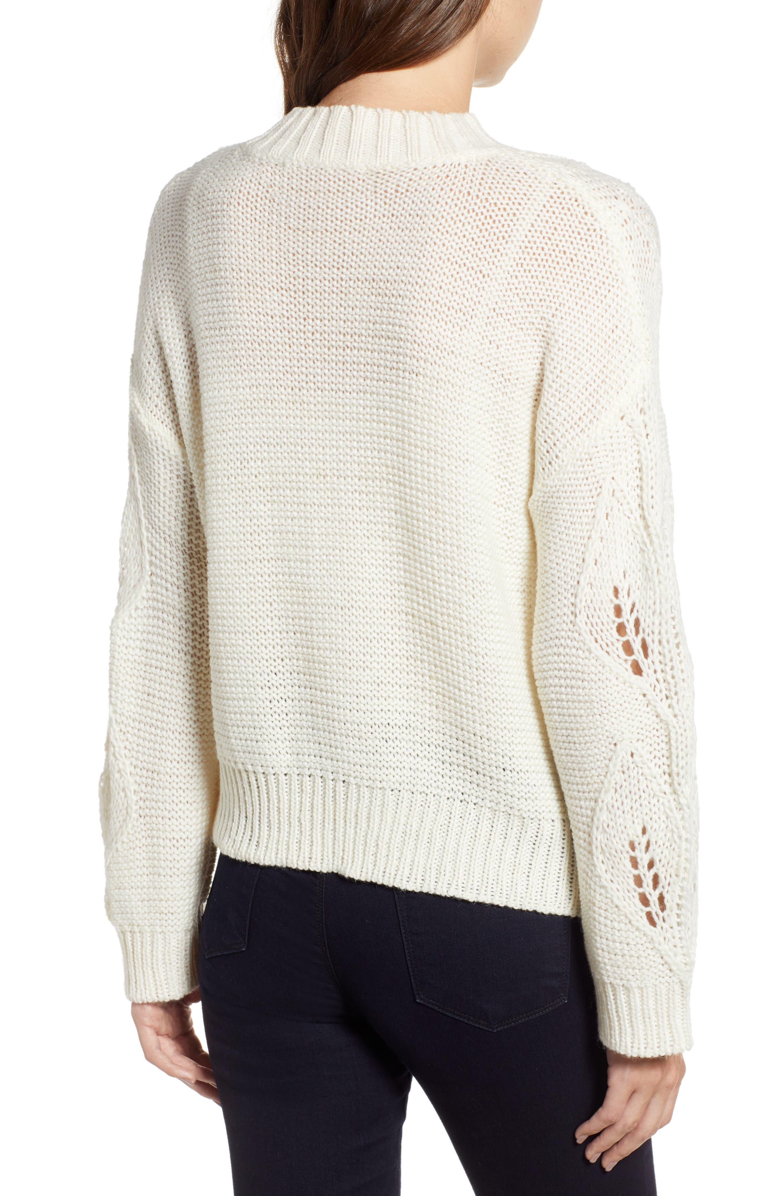 Bishop + Young Botanical Sweater,                             Alternate thumbnail 2, color,                             CREAM