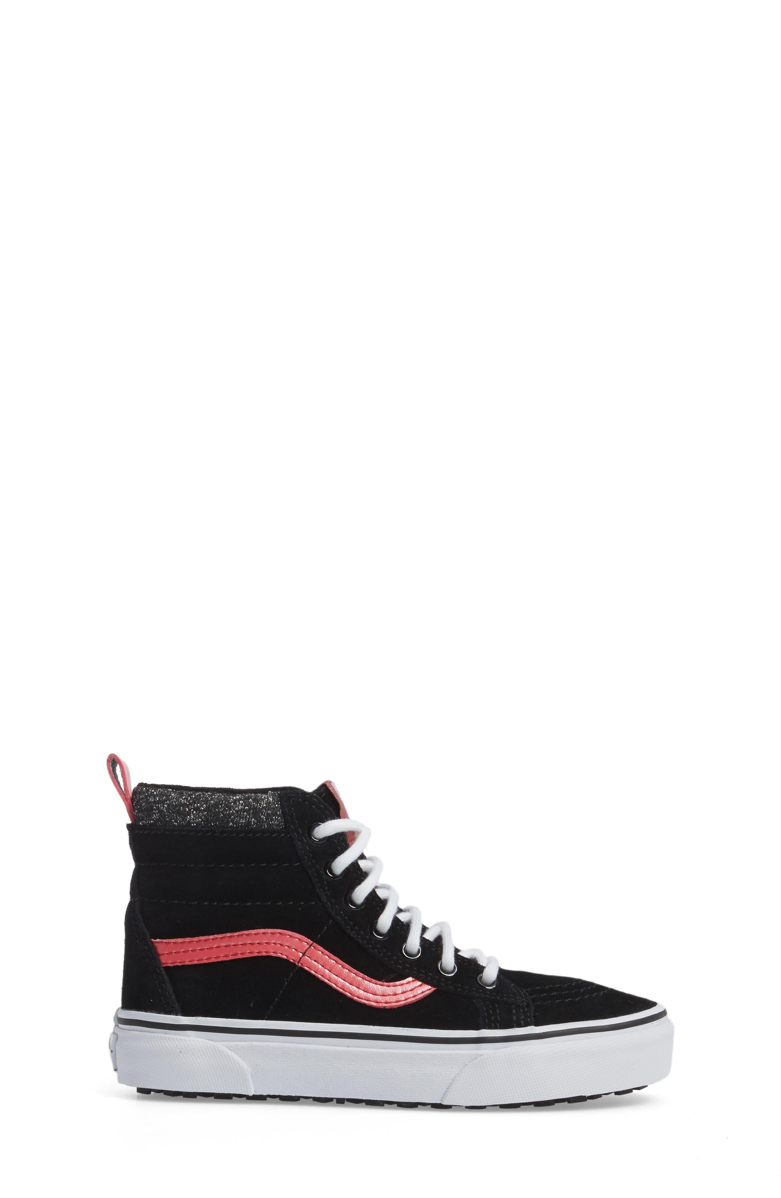 SK8-Hi Sneaker,                             Alternate thumbnail 3, color,                             001