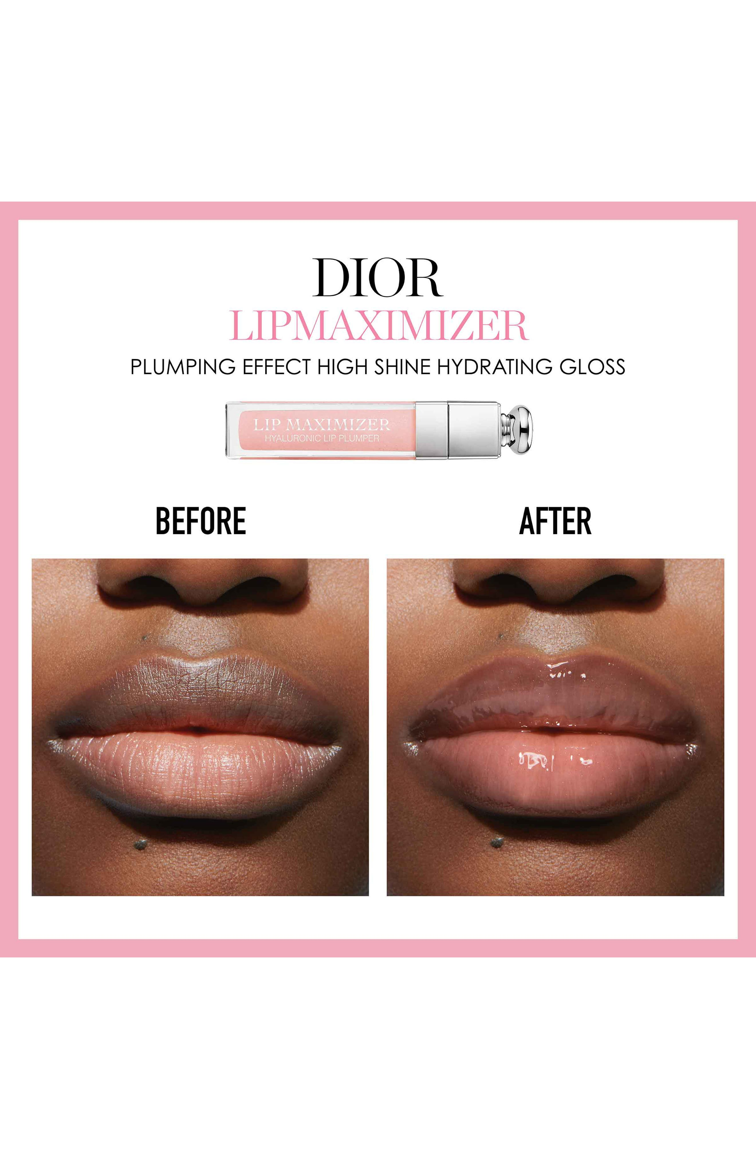 DIOR,                             Addict Lip Maximizer,                             Alternate thumbnail 6, color,                             007 RASPBERRY/ GLOW