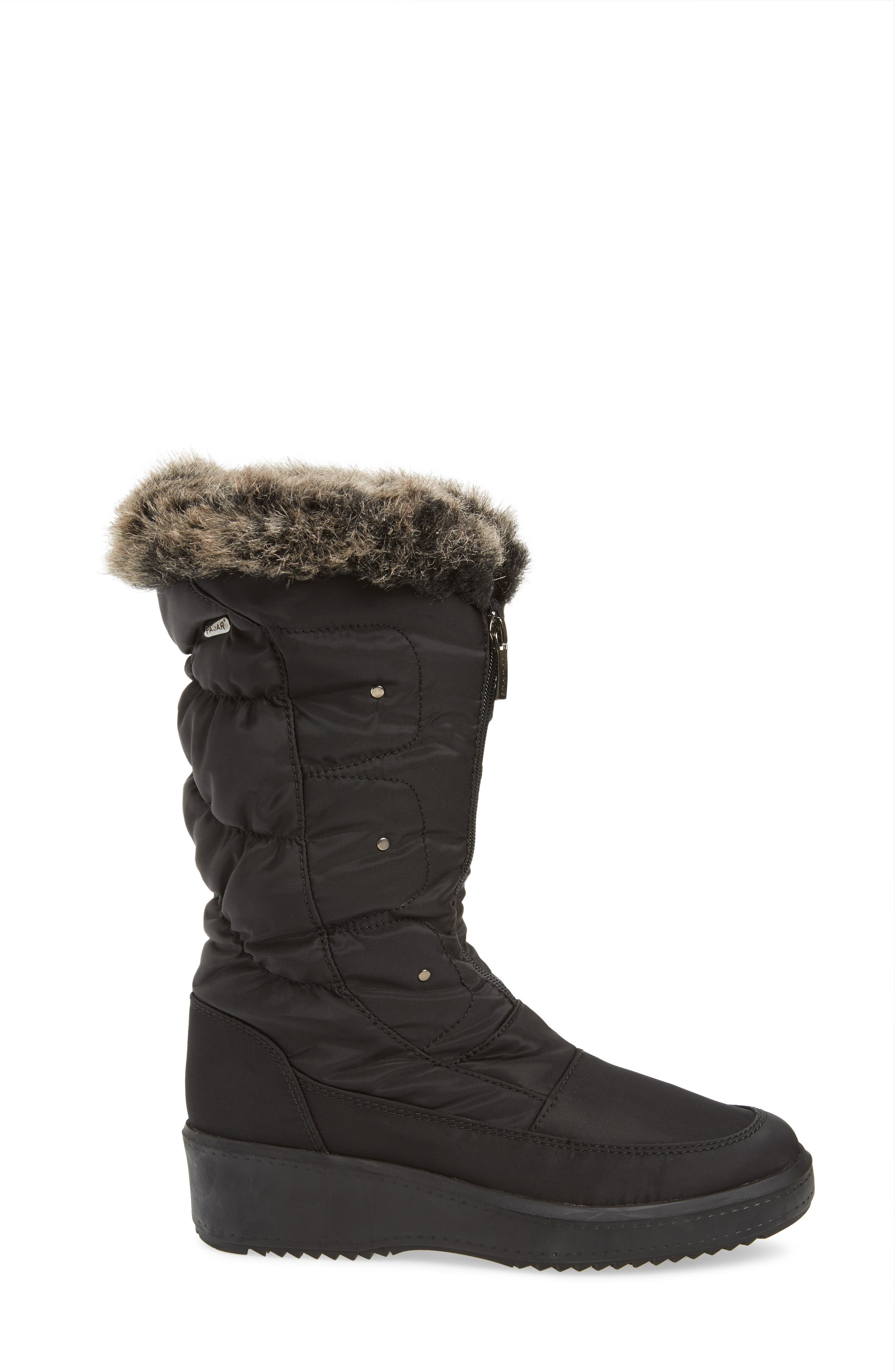 'Louise' Weatherproof Boot,                             Alternate thumbnail 4, color,                             001