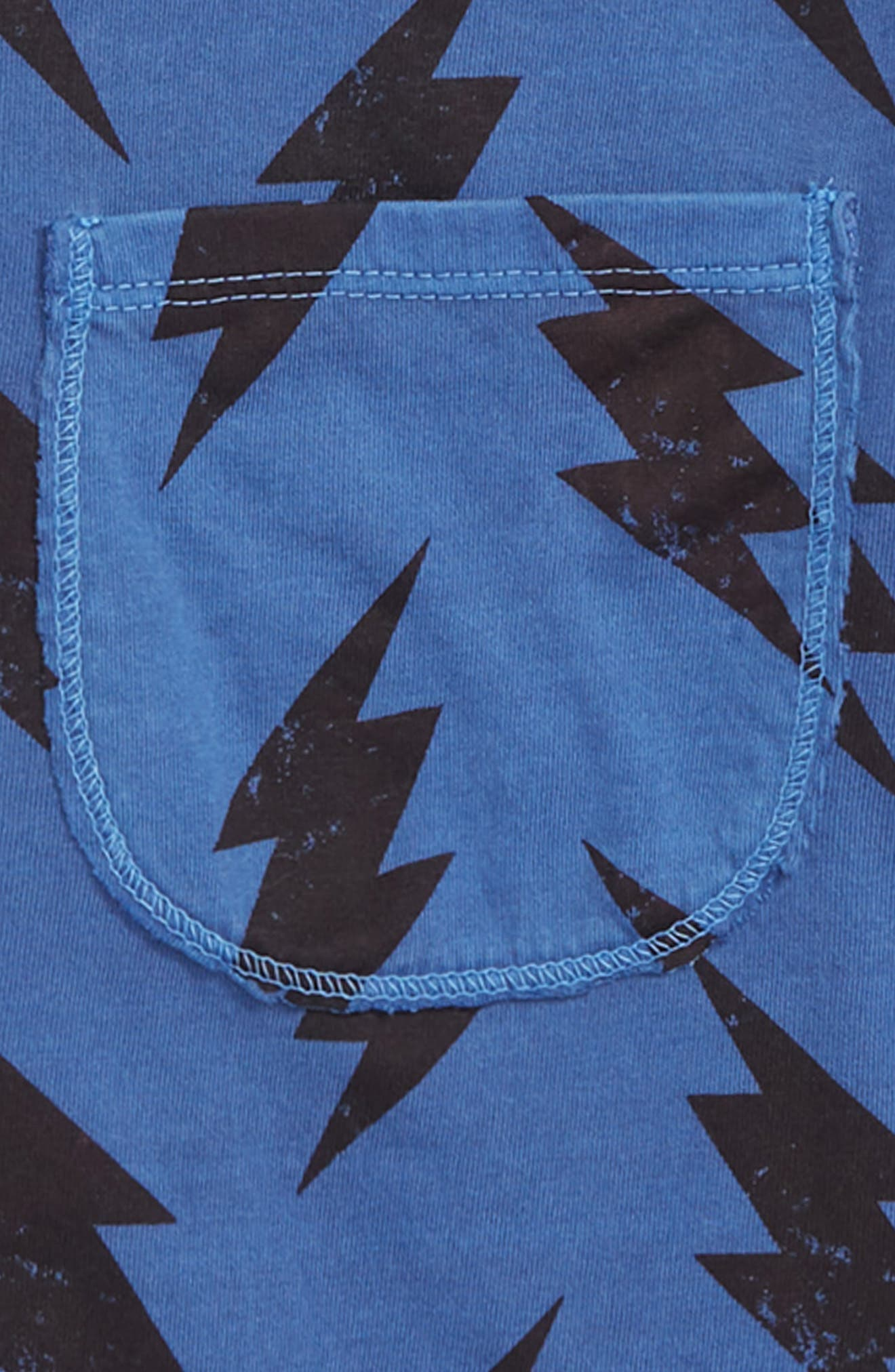 Lightning Print T-Shirt,                             Alternate thumbnail 2, color,                             BLUE MAZARINE BOLTS